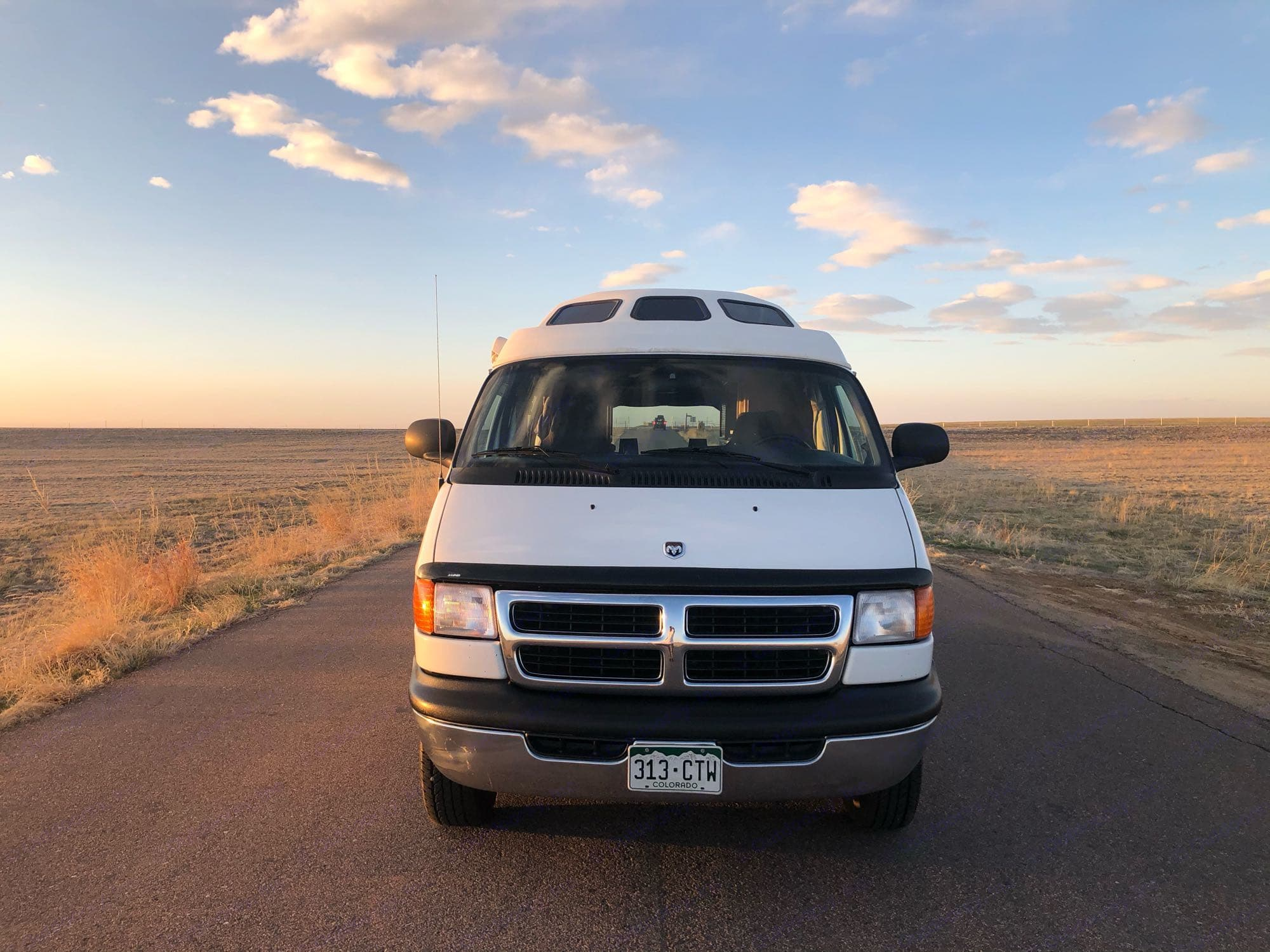 Front view.. Dodge Van Road Trek 2001