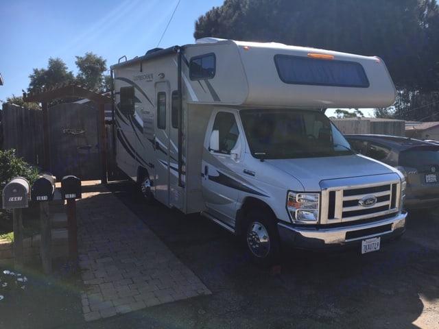 Home Base, Los Osos, CA. Coachmen Leprechaun 2016