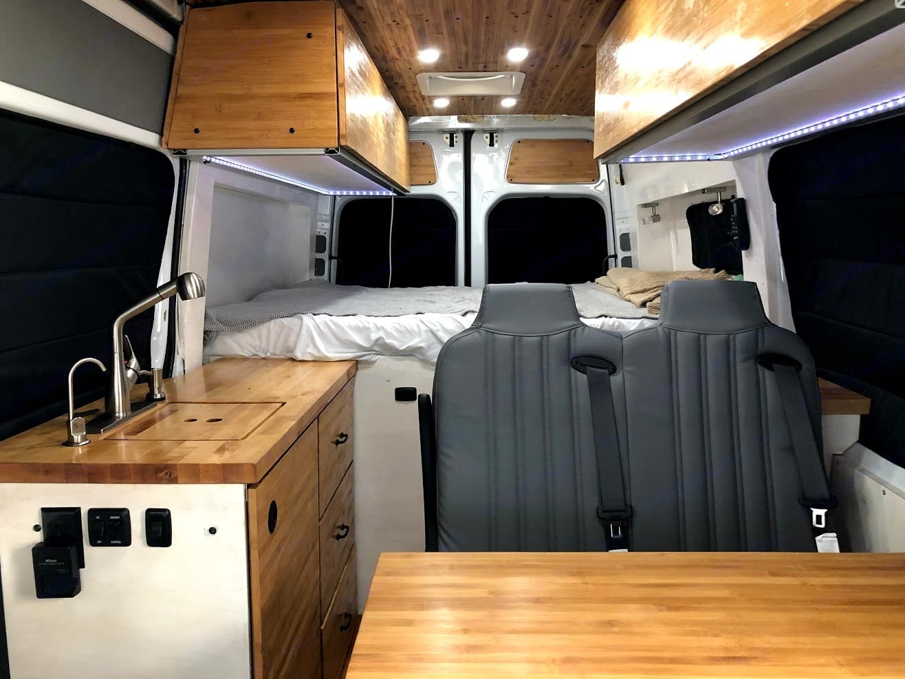 Insulated black out window covers for extra comfort and privacy!. Mercedes-Benz Sprinter 2018