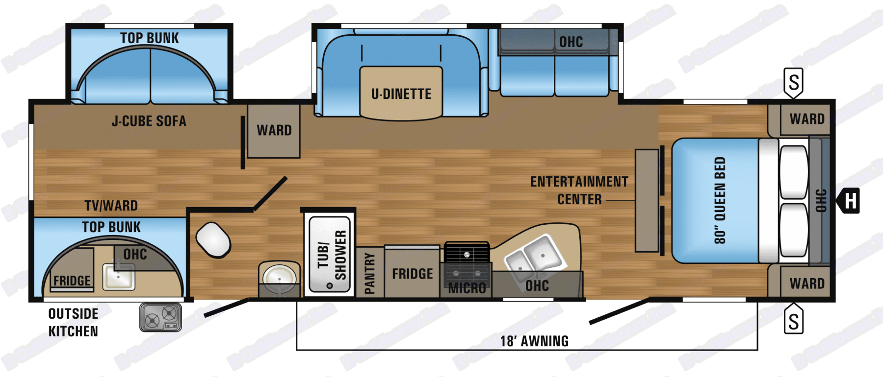 Floor plan. Jayco Flight 2017