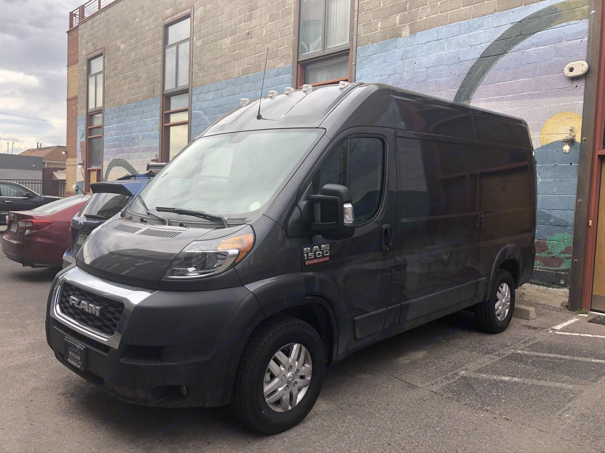 Stealth camper van. Dodge Promaster 1500 2020