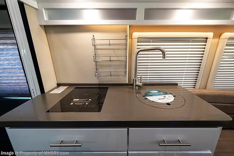 Induction Cooktop!  We love it.. Coachmen 22C EB Li3 2020