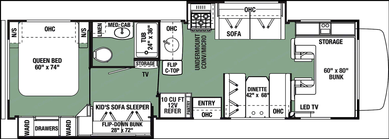 Floorplan. Forest River Forester 3251DSLE 2020