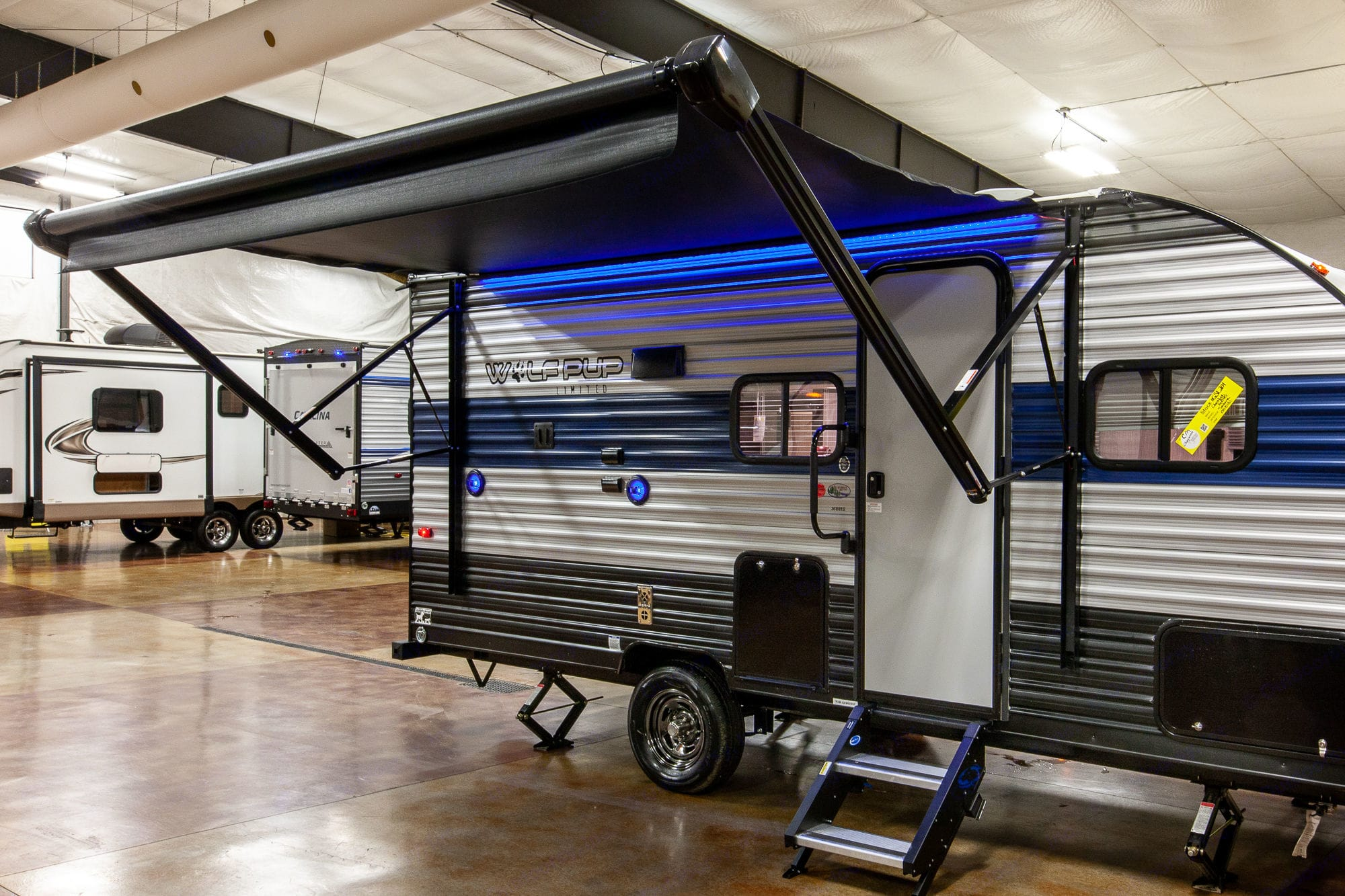 Awning Extended Fully. Forest River Cherokee Wolf Pup 2020