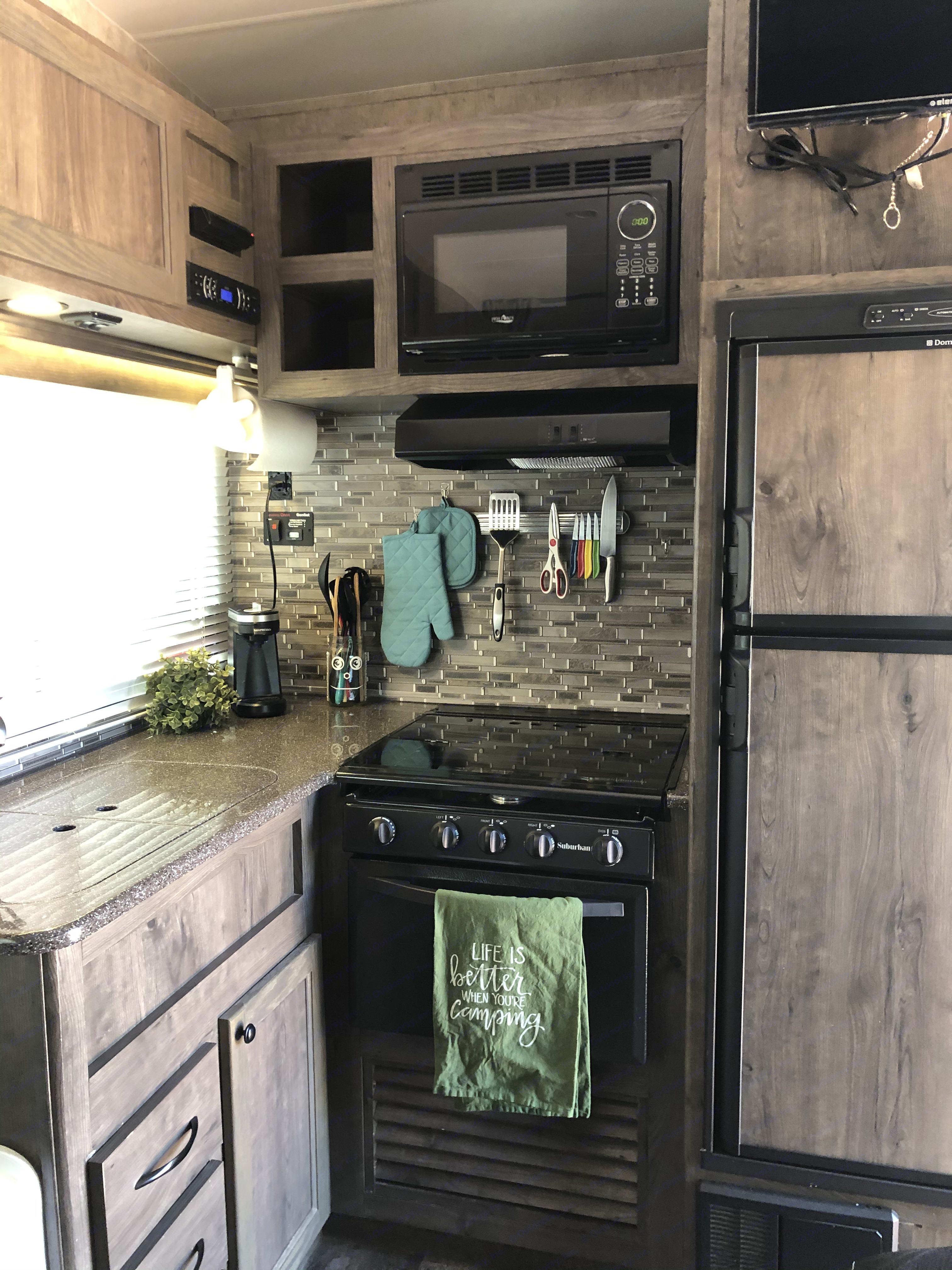 Clean updated Kitchen. Eclipse Recreational Vehicles Stellar 2017