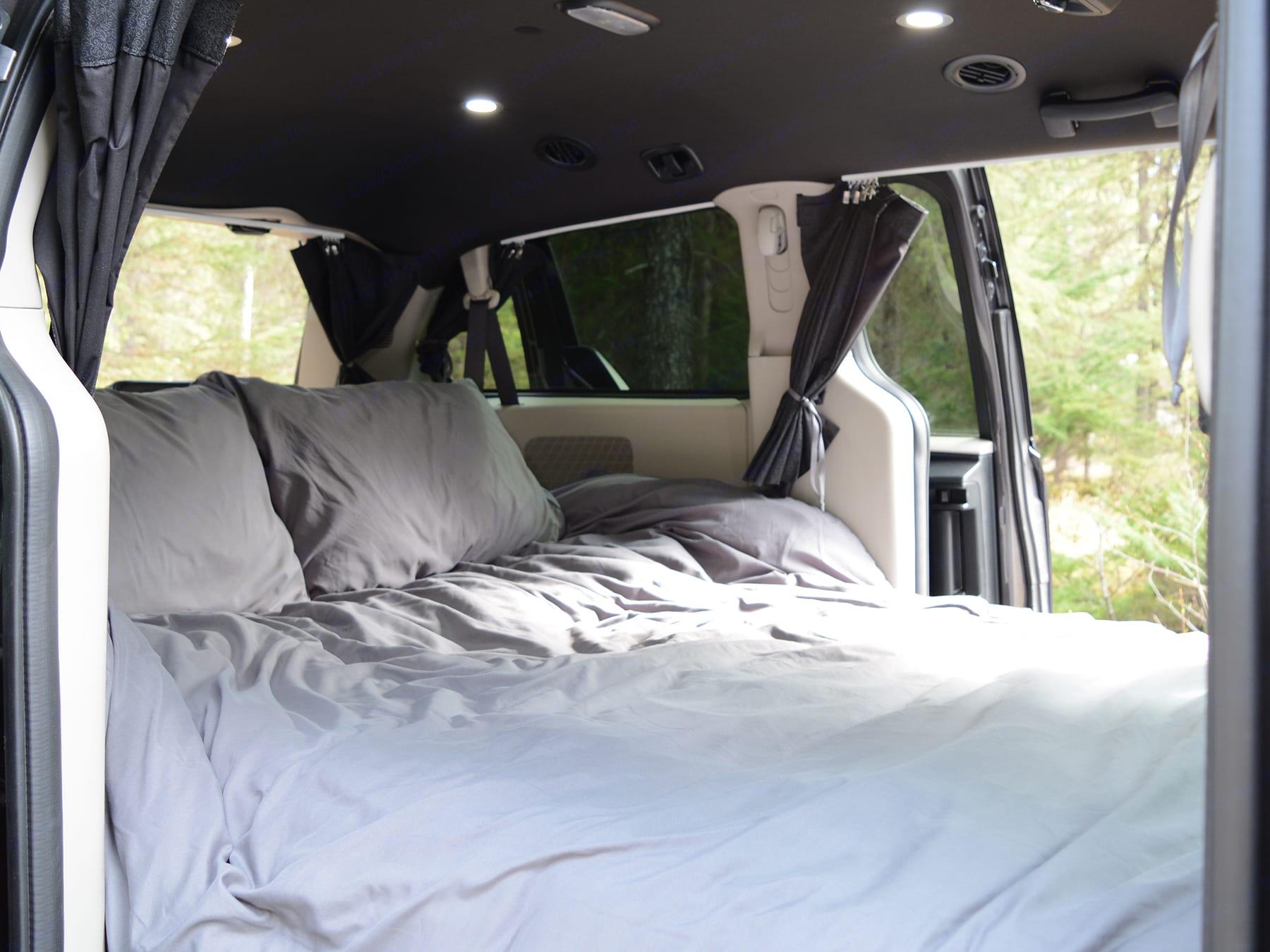 Get Lost Travel Van Interior Bed. Dodge Grand Caravan 2016