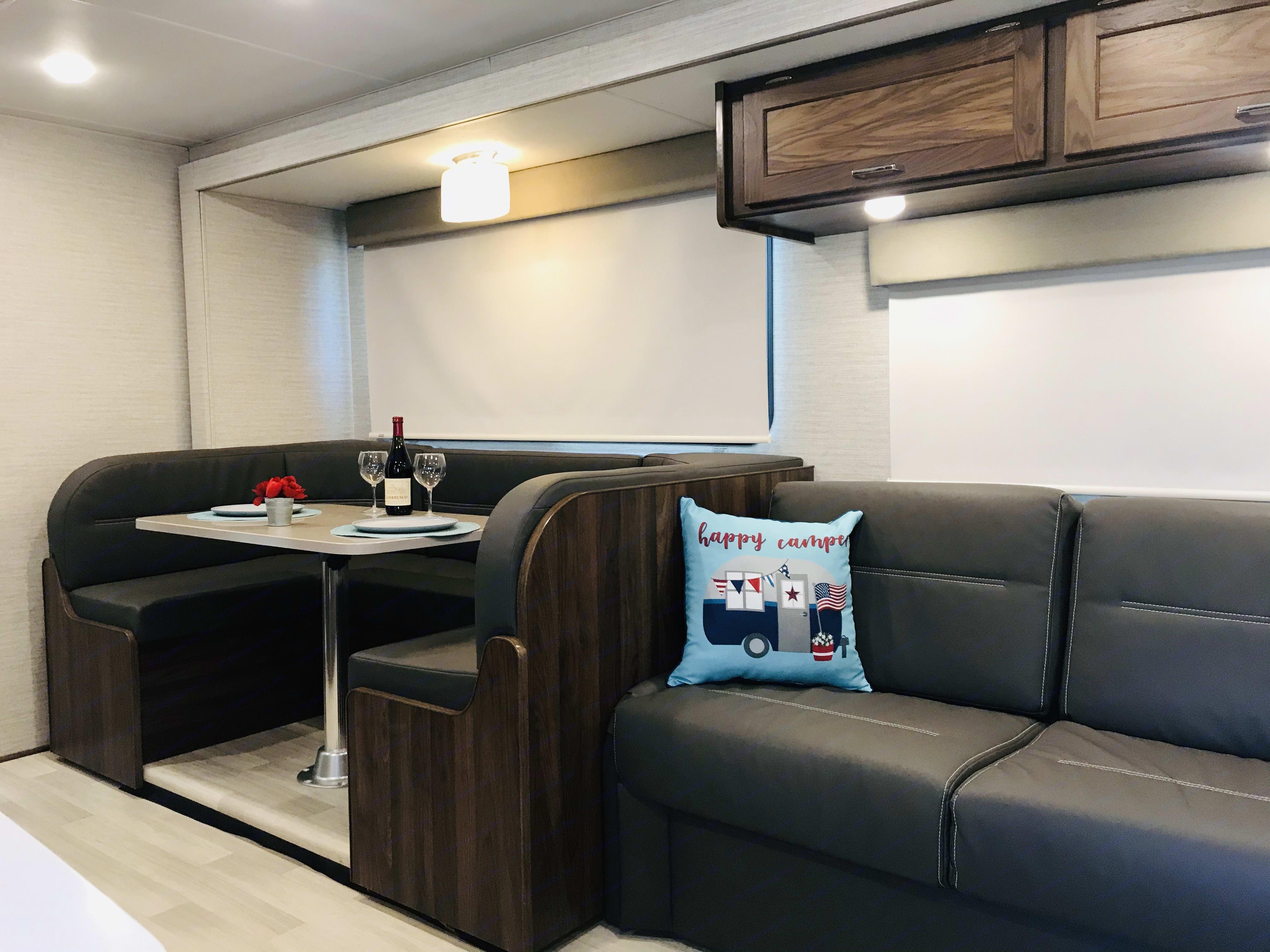 "Skinny- Queen size luxury sofa sleeper pull out bed 58"" x 74"" sleeps 2. Winnebago Minnie Winnie 2020"