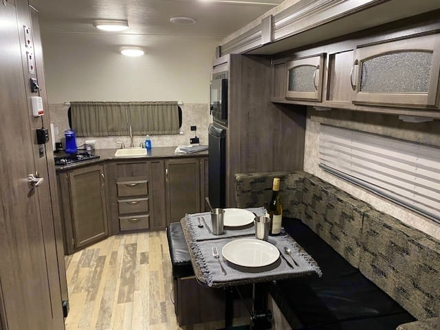 Main cabin facing back. Winnebago 1790 Minnie Drop 2018
