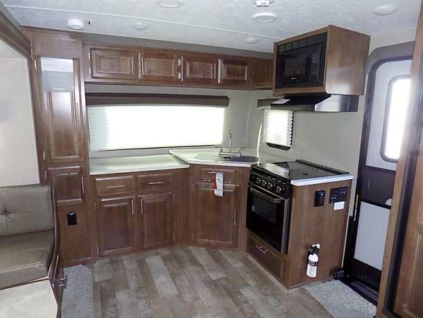 Spacious Front Kitchen. ForestRiver RockwoodMiniLite 2019