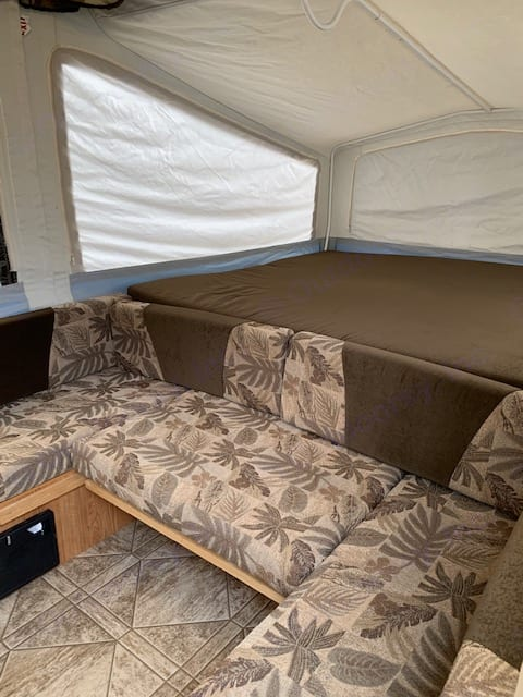 King Bed with couch or additional seating / sleeping. Jayco JaySeries 2010