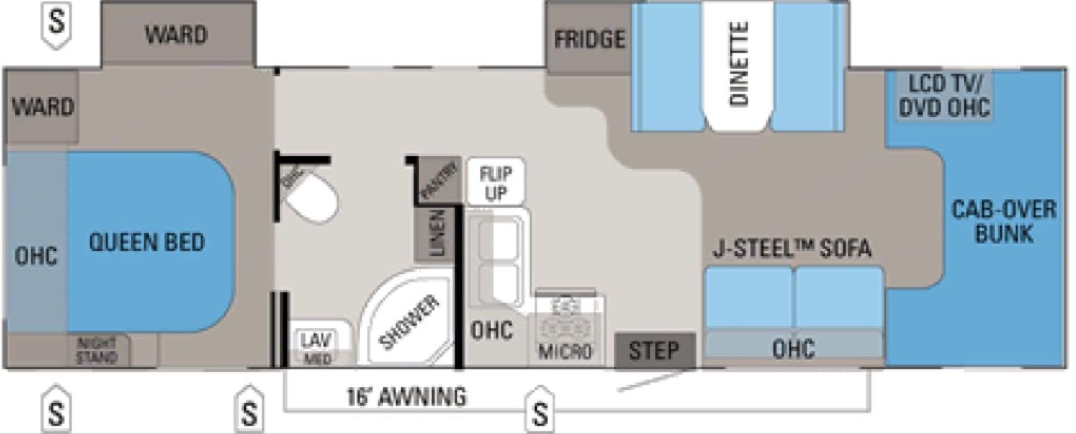 Floorplan. Jayco Greyhawk 2011