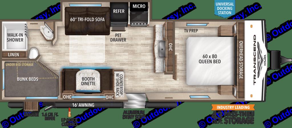 Floor Plan. Grand Design Transcend 2020