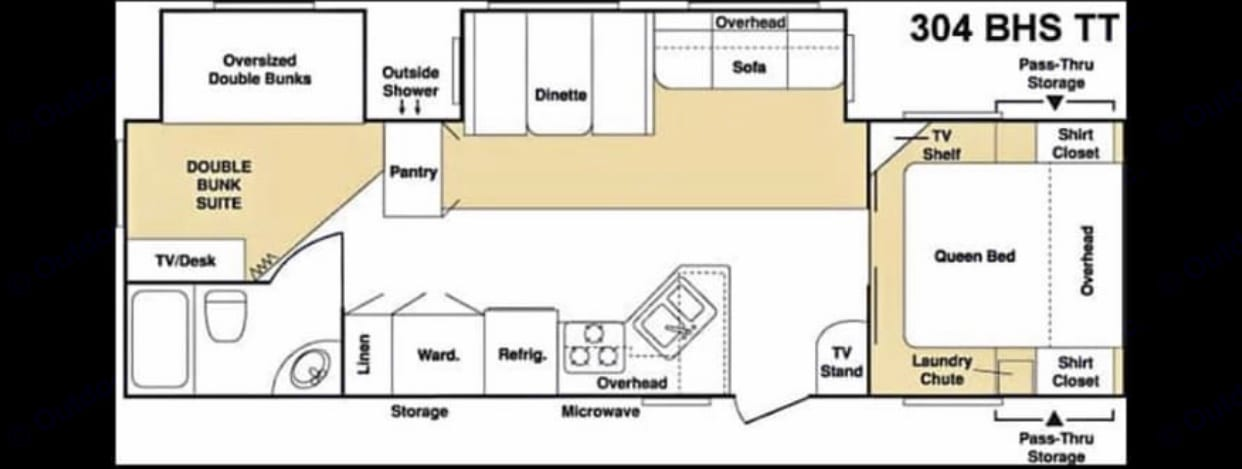 Floor Plan. Keystone Cougar 2006