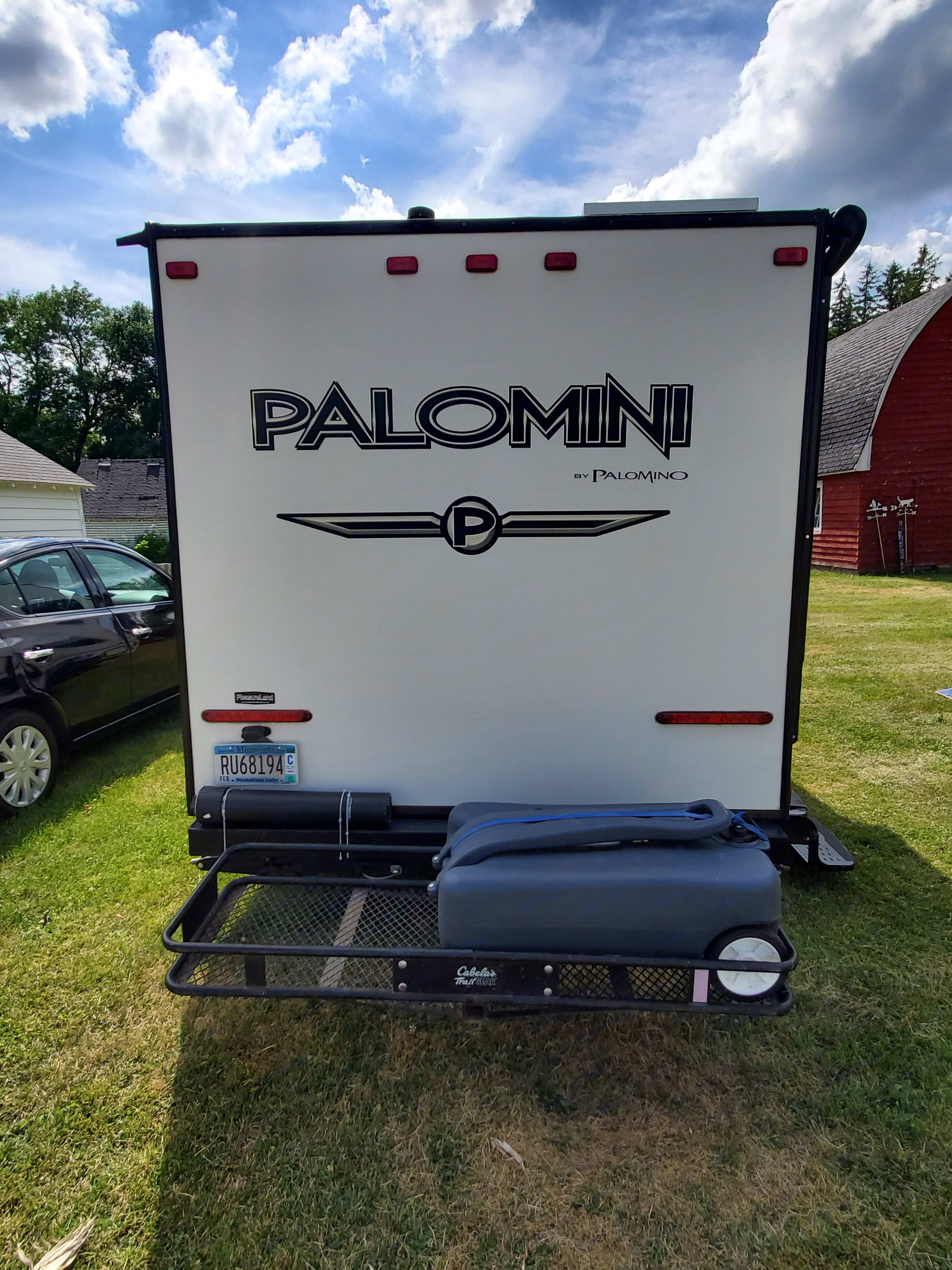 This portable waste tank makes life a little easier when you don't have sewer hook ups.. Palomini 150RBS 2014