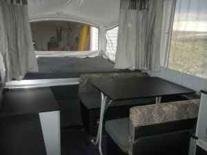 Rear Interior View with Table. Fleetwood Evolution 2008