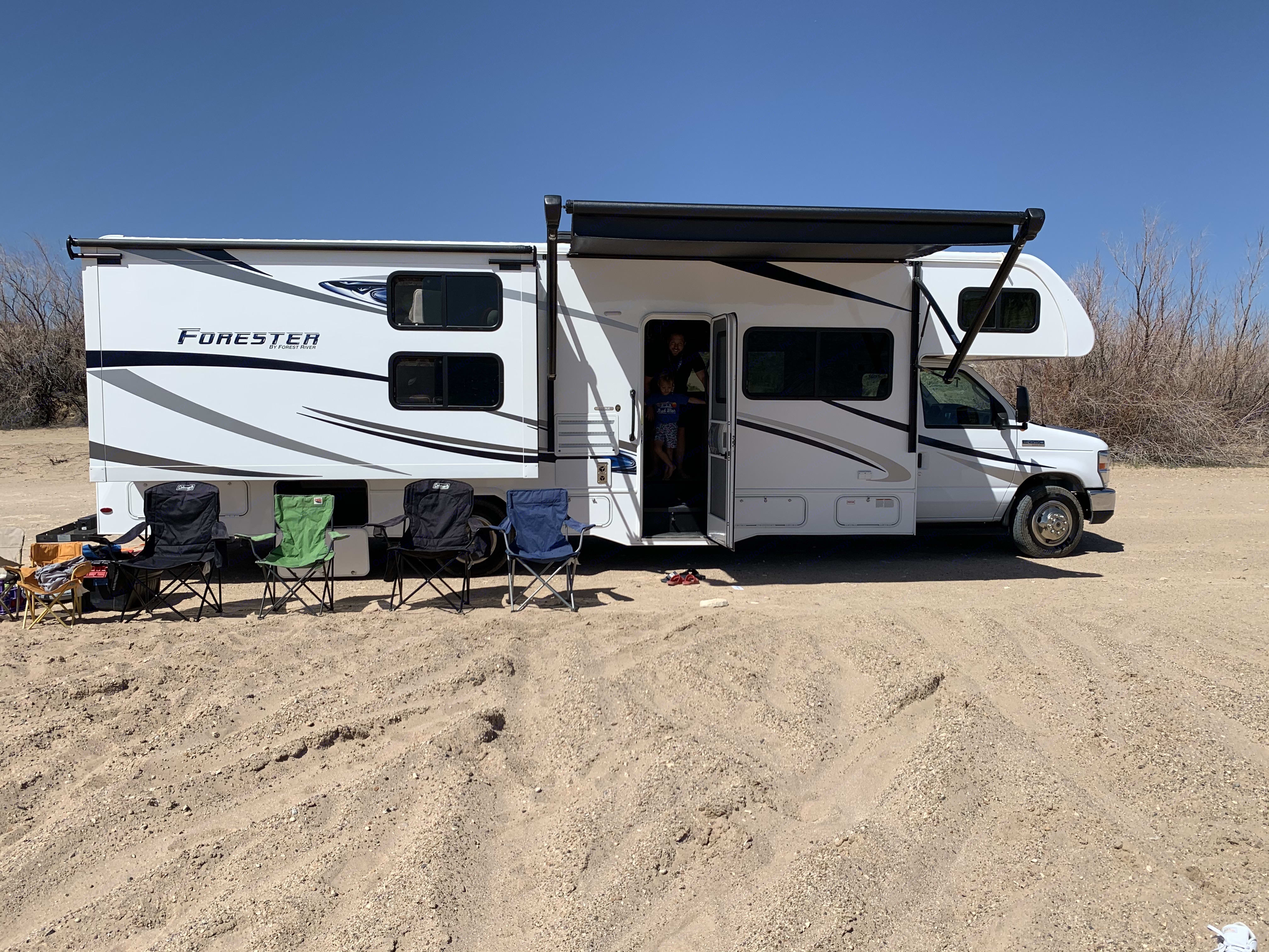 Parked at Swim Beach, Flaming Gorge.. Forest River Forester 2020