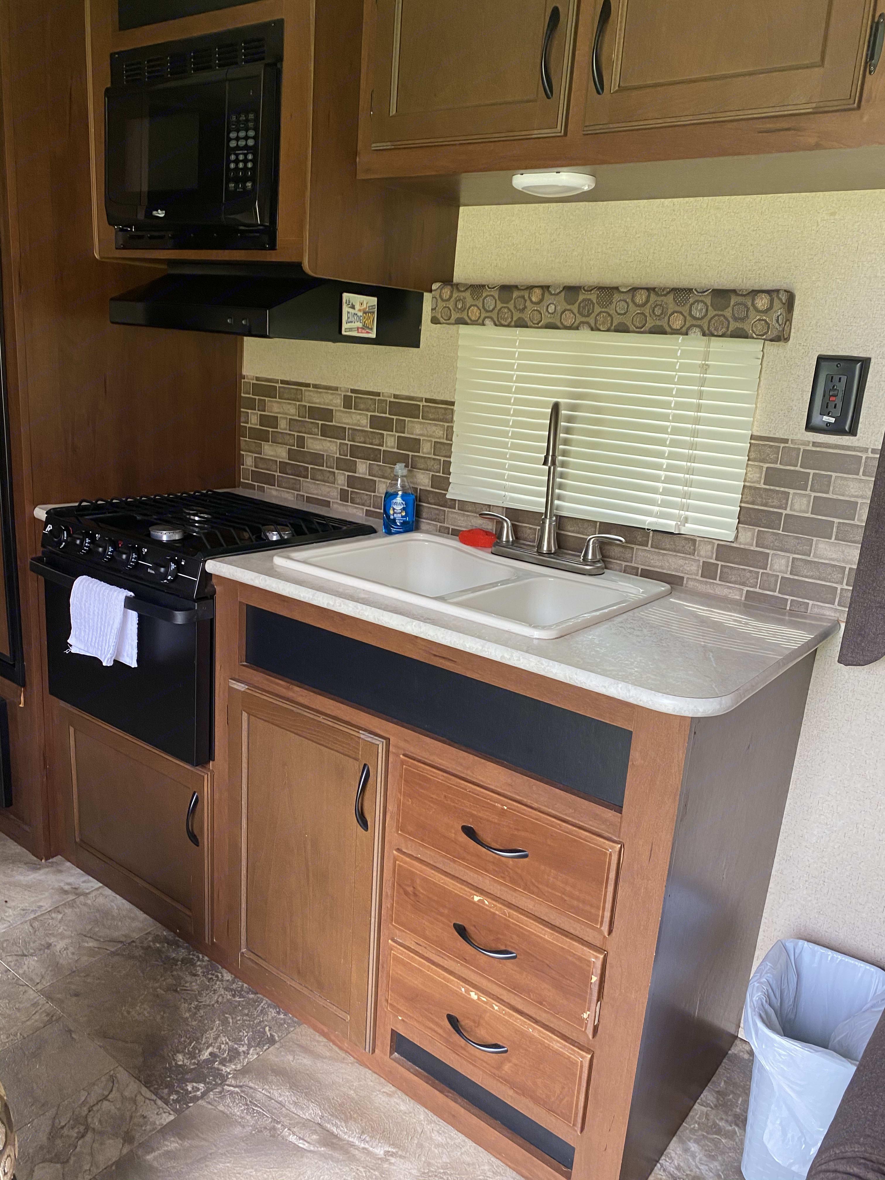 Kitchen area. Jayco Jay Flight 2015