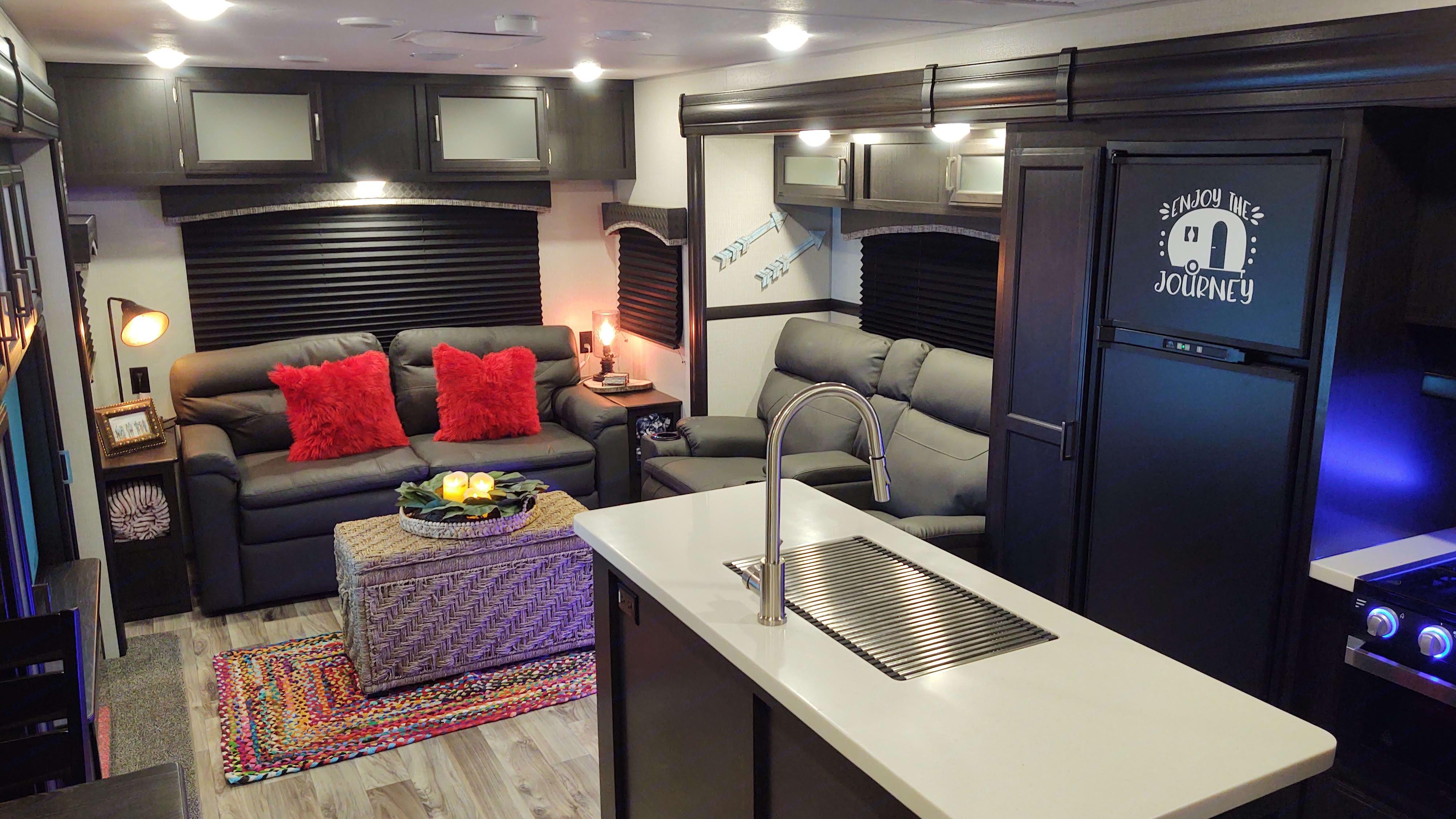 Living Room View From Kitchen. Venture Rv Sporttrek 2020