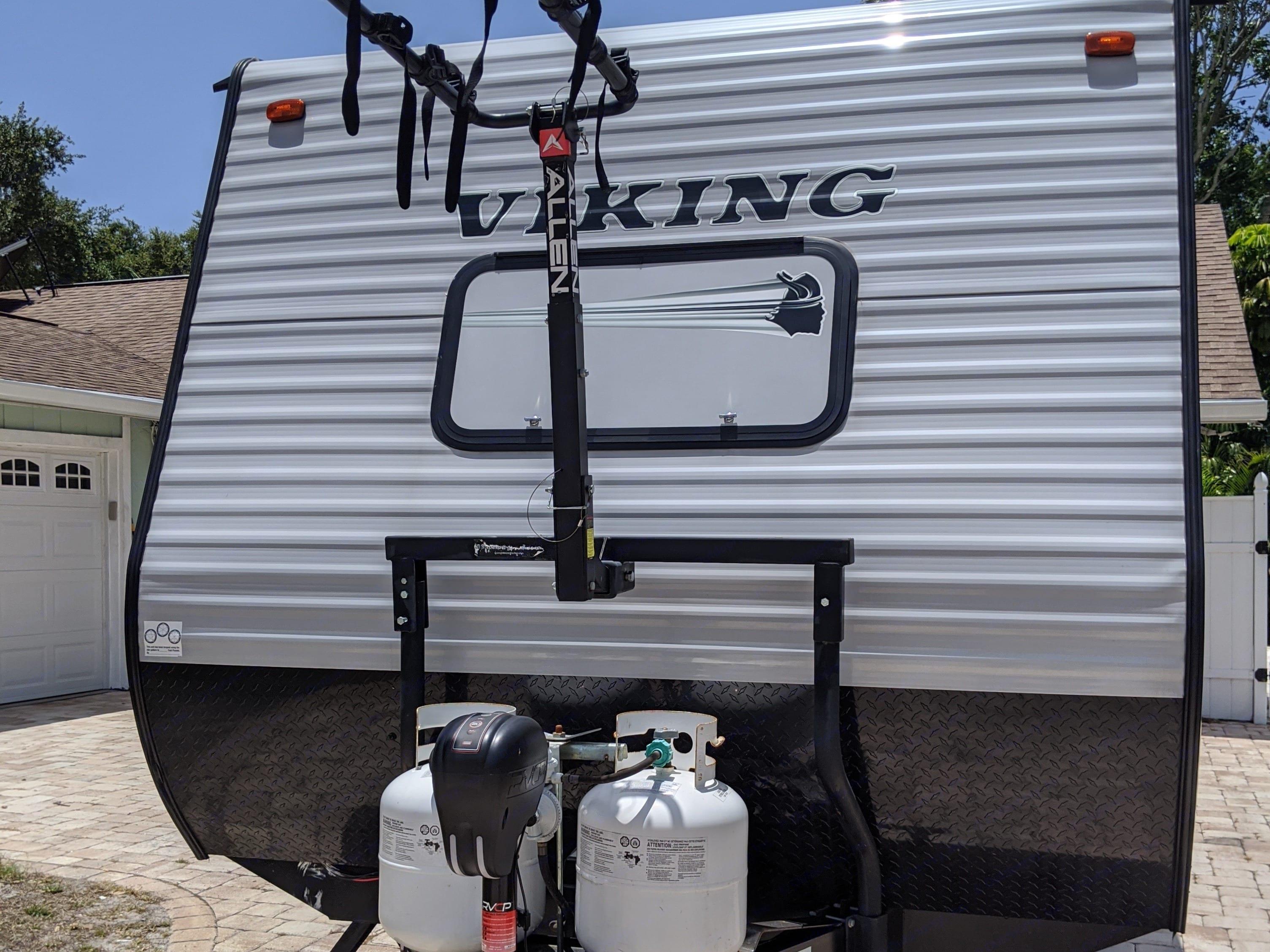 Bike rack and propane. Forest River Viking 21BH 2019