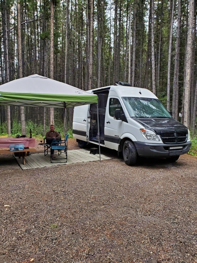Renters out Enjoying Camping with Howie.  (Canopy not included) . Mercedes-Benz Sprinter 2008