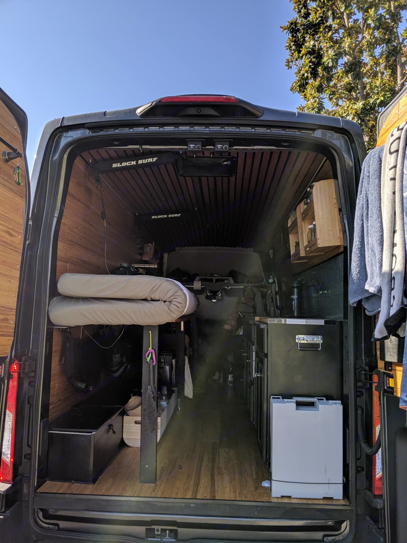 There's room for all your gear, even 2 surfboards!. Ford Transit 2018