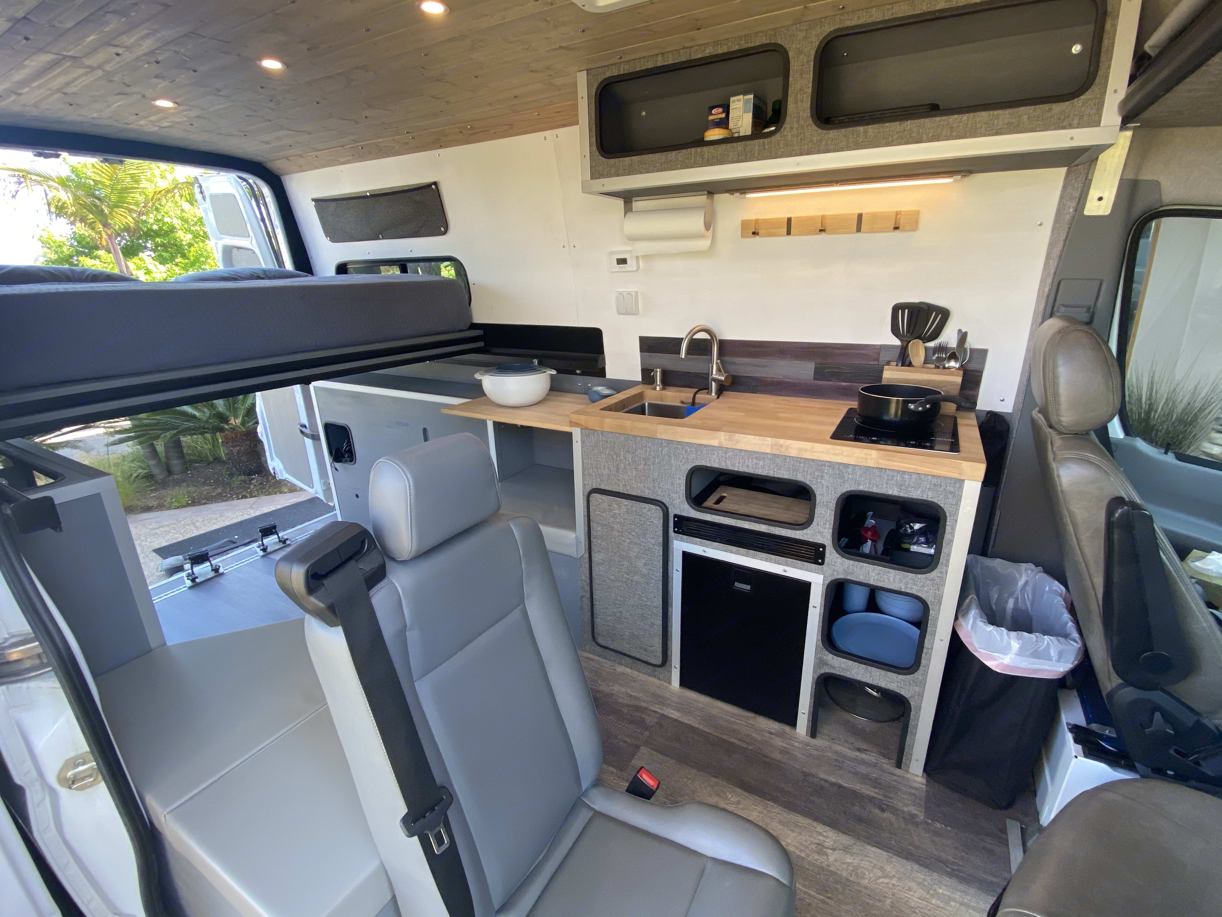 The back passenger seat is removable and can be provided for your use or removed prior to rental. Mercedes Sprinter 2015