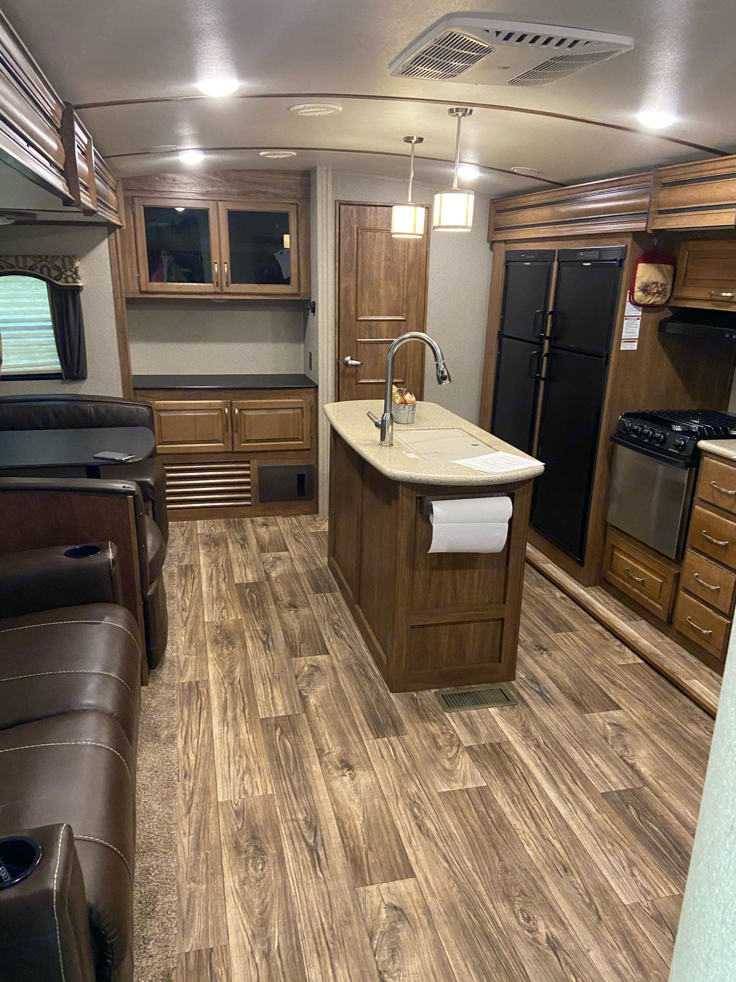 Roomy kitchen and living area. Keystone Laredo 2019