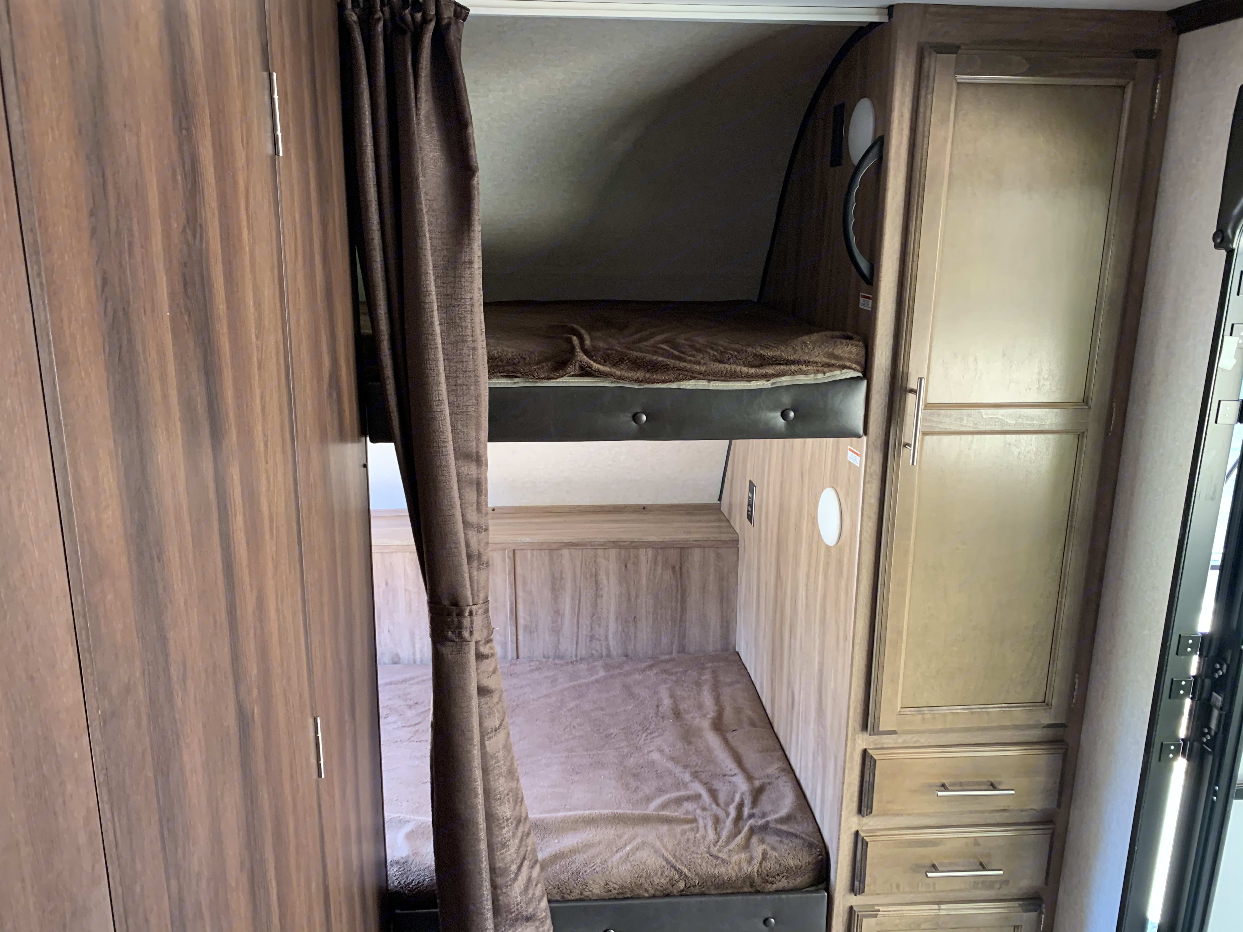 Bunk beds that convert into storage.. Jayco Jay Feather 2019