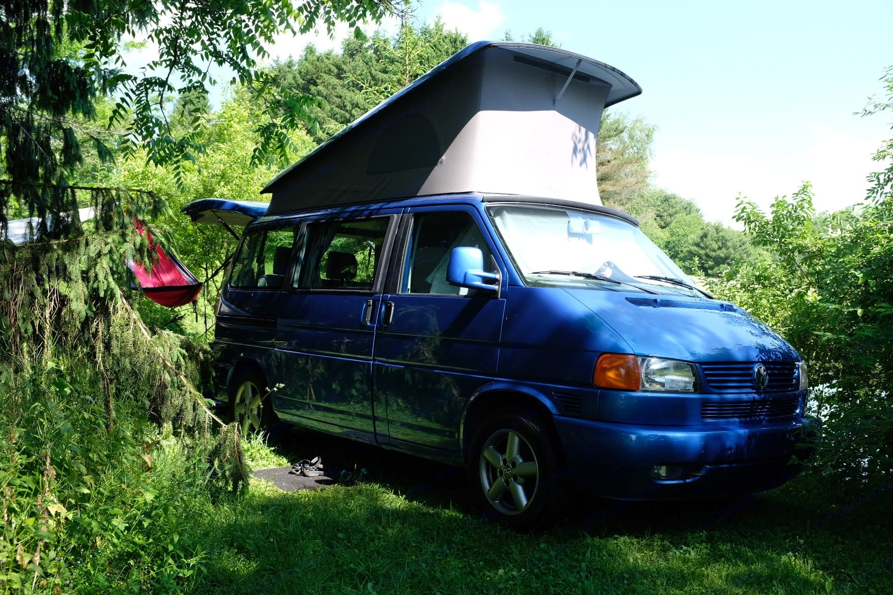 Camping at a great Hipcamp site in Upstate New York.. Volkswagen Eurovan Westfalia 2002