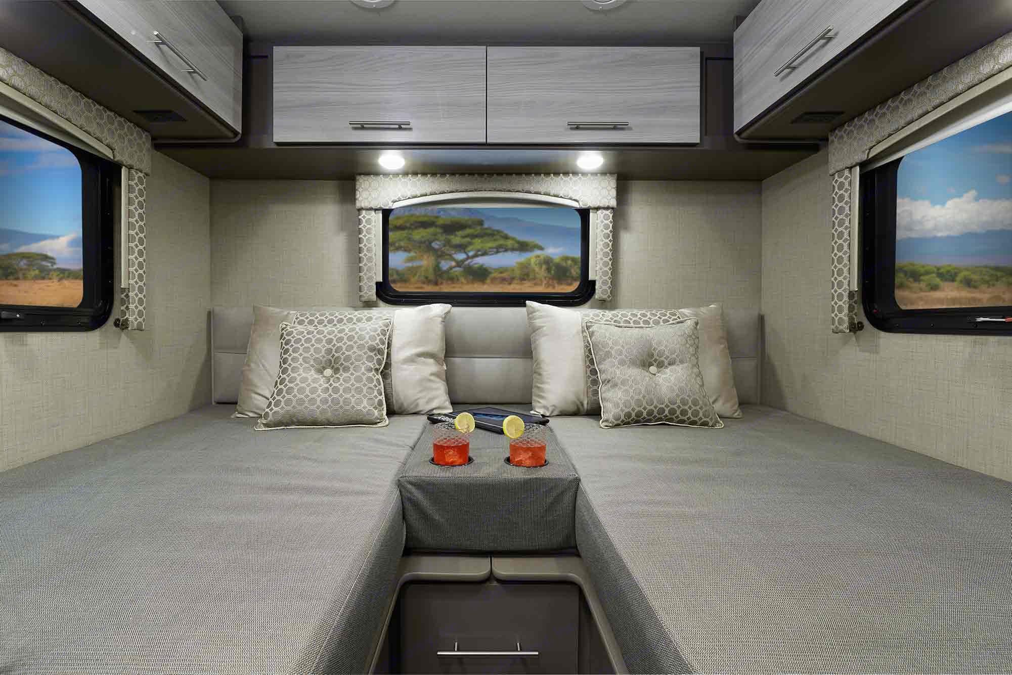 Factory Photo Rear Beds. Thor Motor Coach Axis 2020