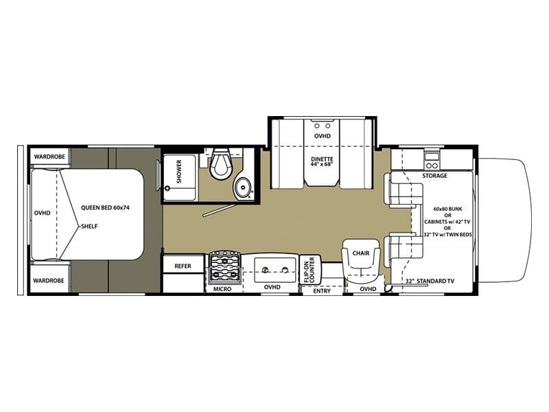 Close, but not exactly the floorplan - our dinette doesn't slide out, has the TV over the dinette, and swap the sink and range.. Forest River Sunseeker 2001