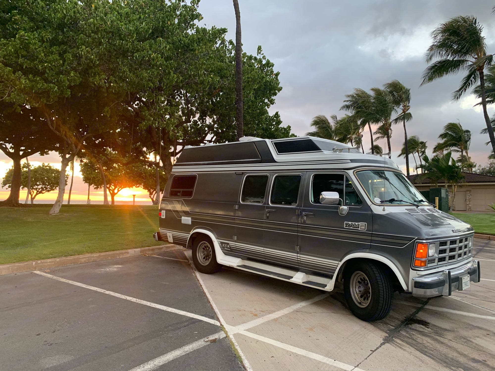 Sunsets on the West.. Dodge B350 1990