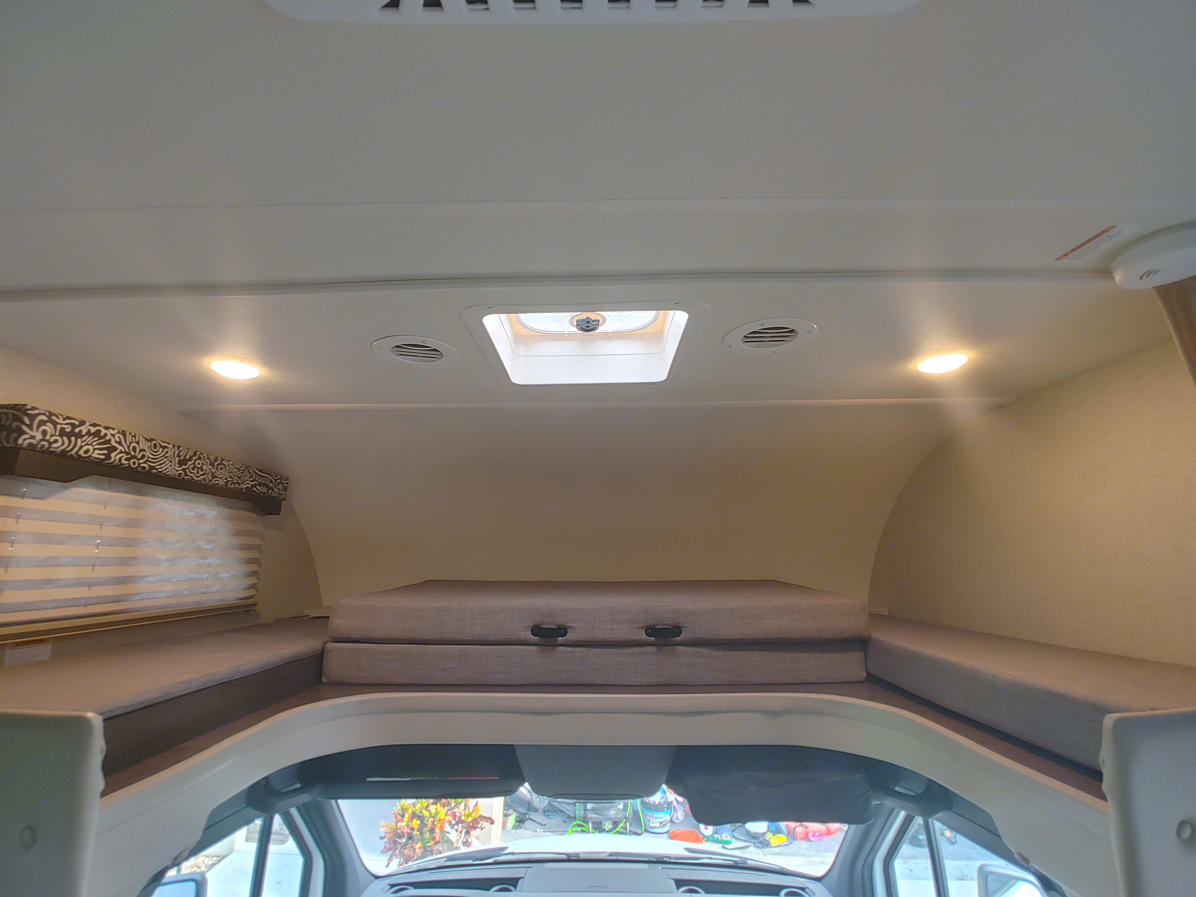 Overhead bunk stowed.. Thor Motor Coach Freedom Elite 2020