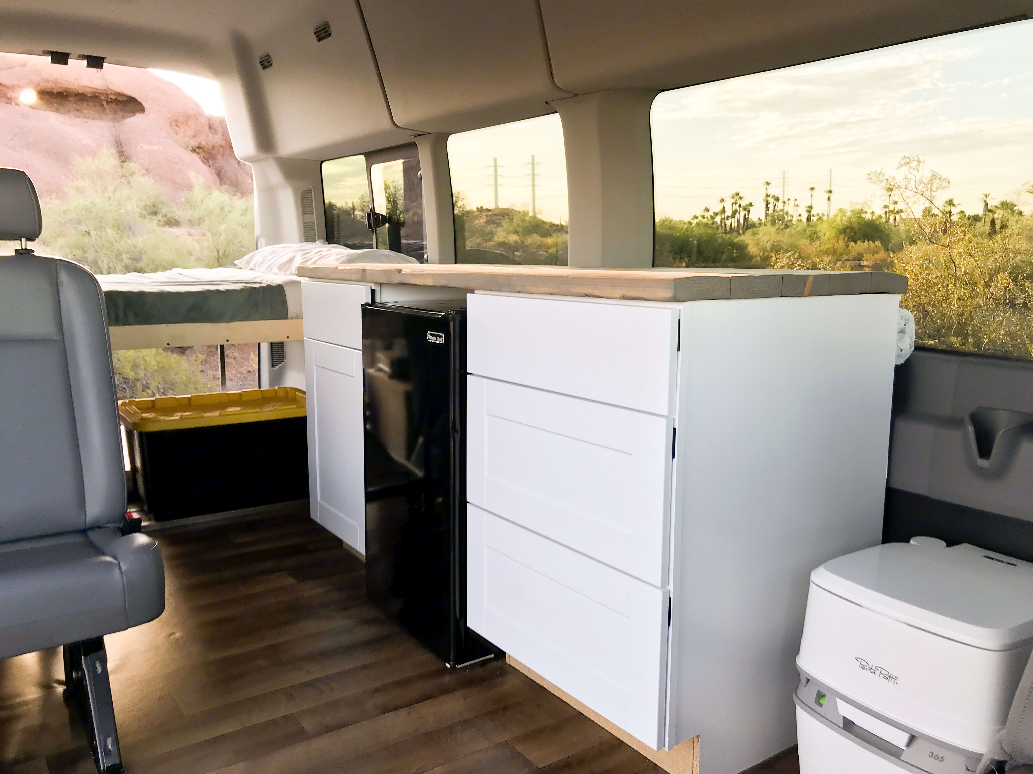 Huge open windows to take in the panoramic views. Ford Transit 350 HD 2017