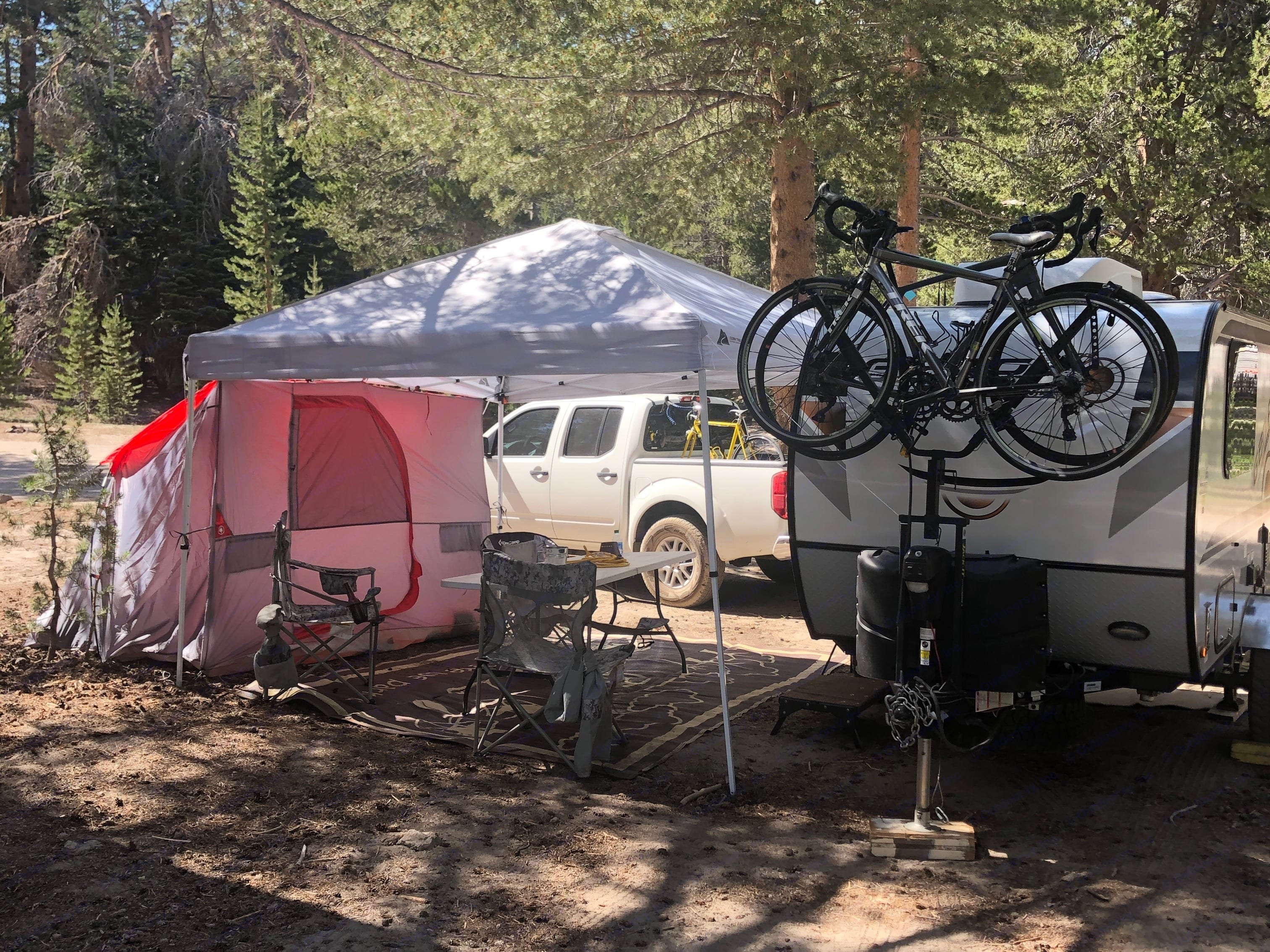 camping in Mammoth Lakes CA. Forest River Rockwood Geo 2020