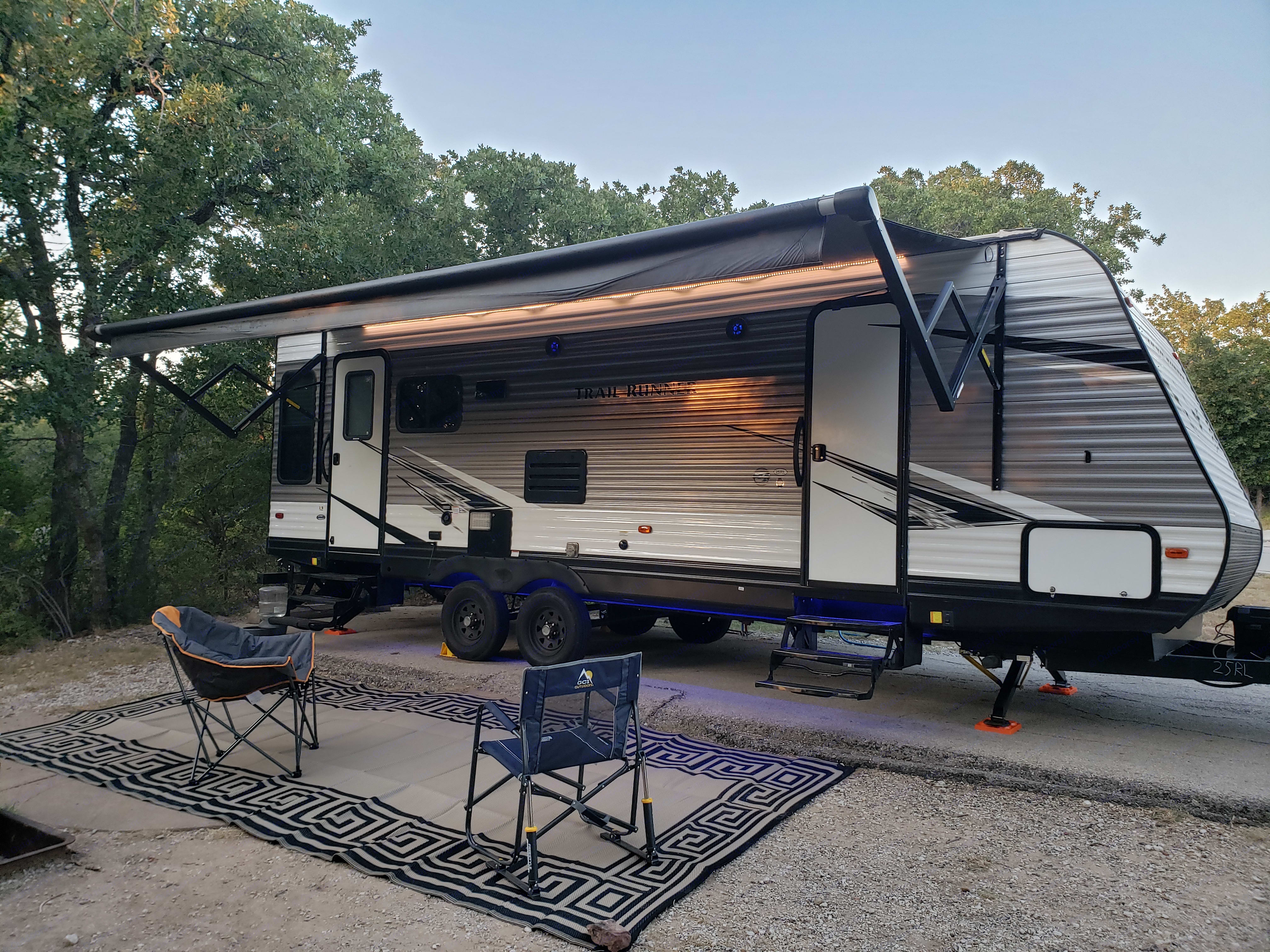 My campsite setup. Heartland Trail Runner 2020