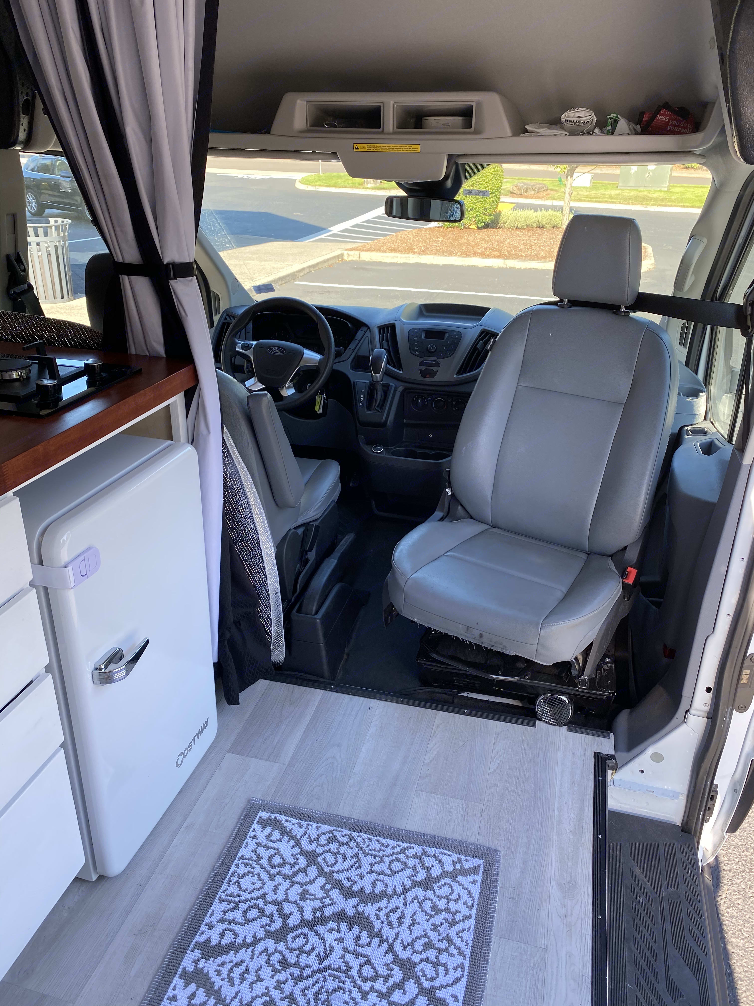 Swivel chair to make more living space!. Ford Transit 2019