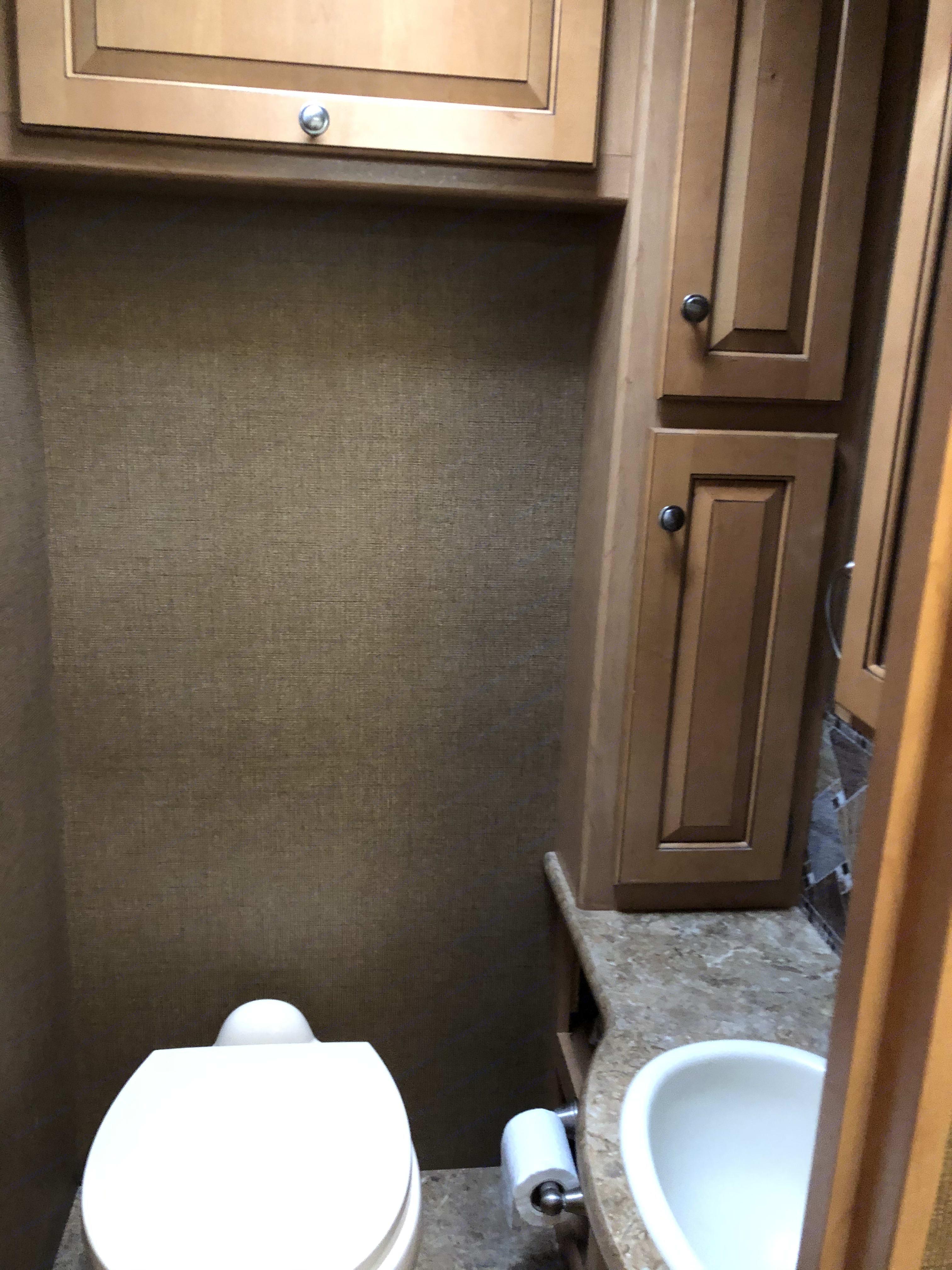 Restroom (toilet/sink/storage). Thor Motor Coach Windsport 2016