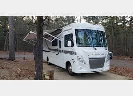 Outdoor shot, adjustable awning out.. Winnebago Intent 29L 2019
