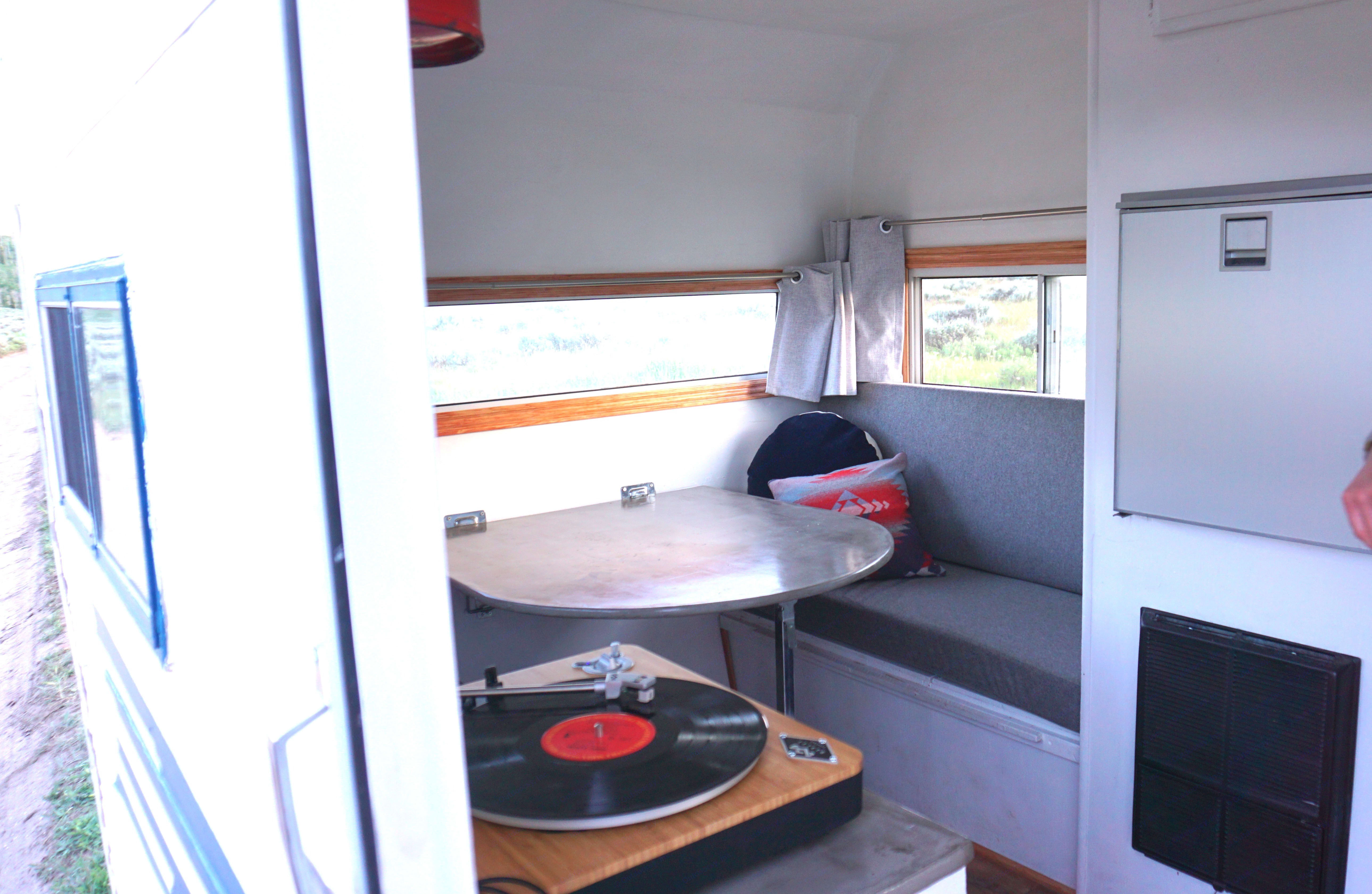 Record player included!. Caveman Camper 1973