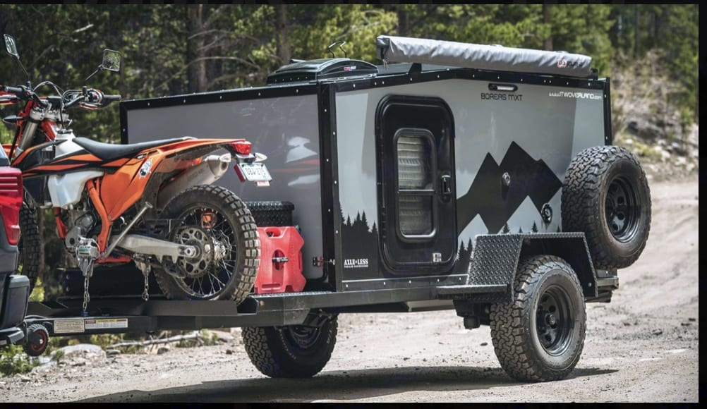Capacity for a dirt bike (up to 400lbs). Dirt bike not included.. Into the Wild Boreas MXT 2019