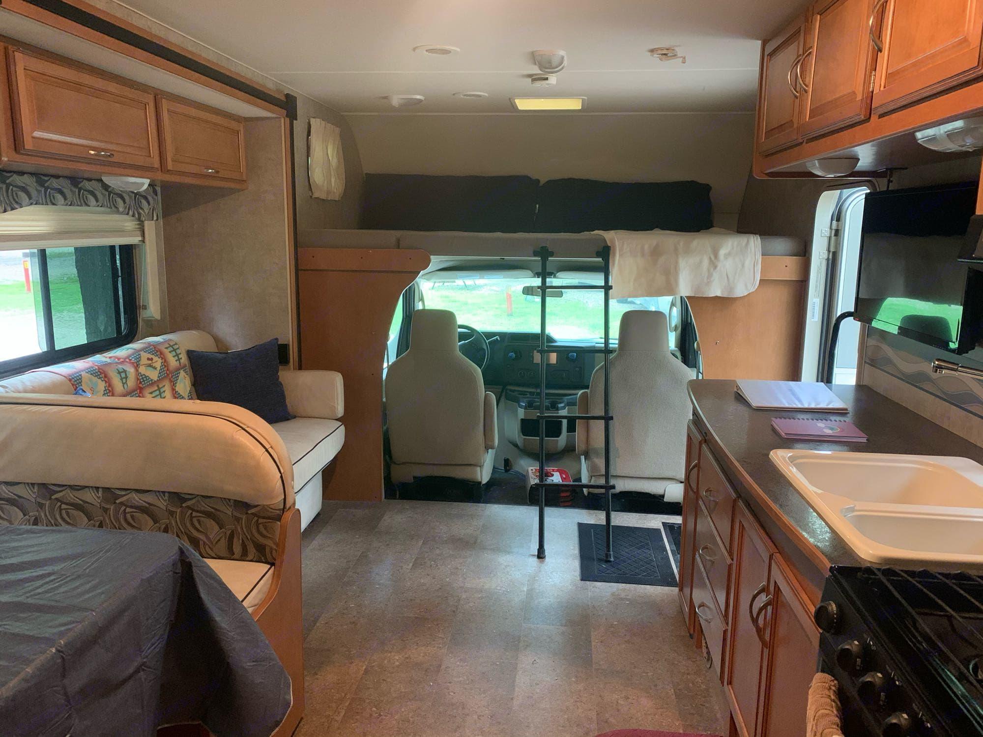 main living area. Winnebago Minnie Winnie 2016