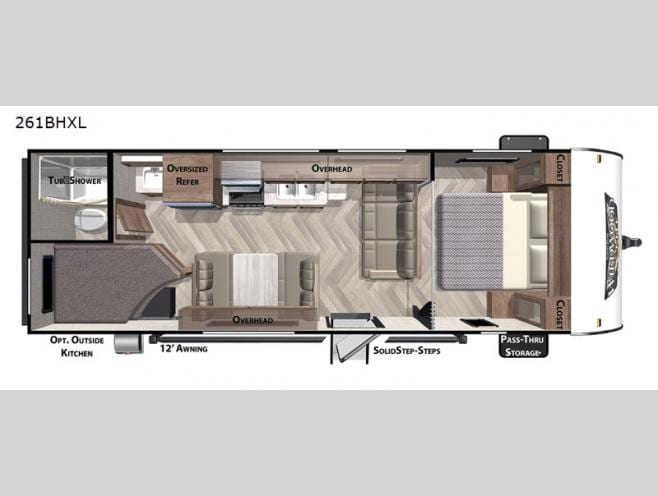 layout   no outdoor kitchen. Forest River Wildwood X-Lite 2021