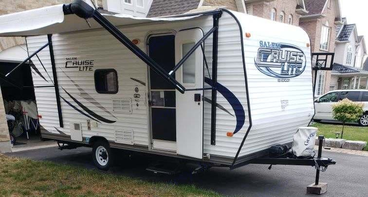 front of trailer. Forest River Salem Cruise Lite 2014