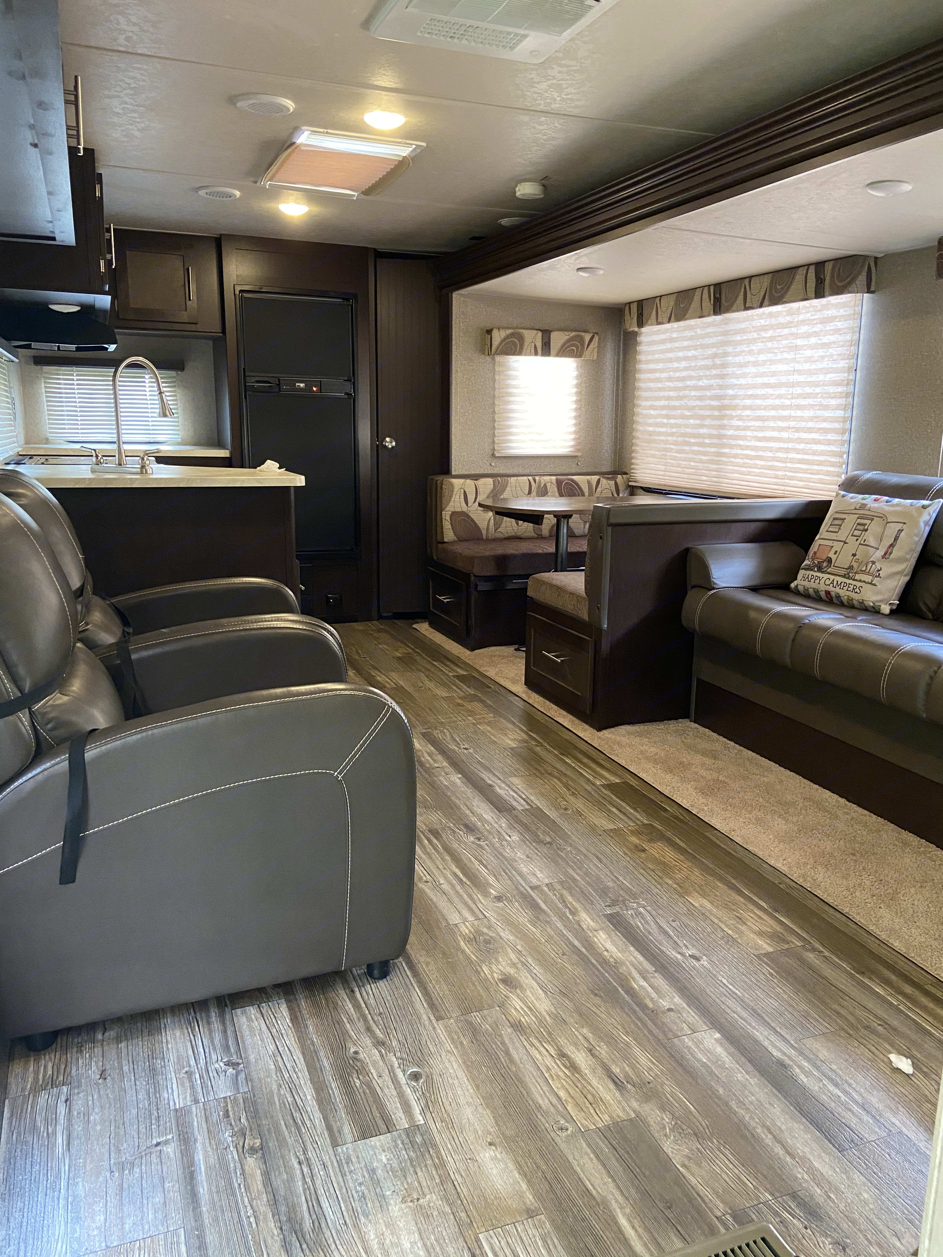 Living/Dining with pullout sleepers.. Forest River Cherokee 2016