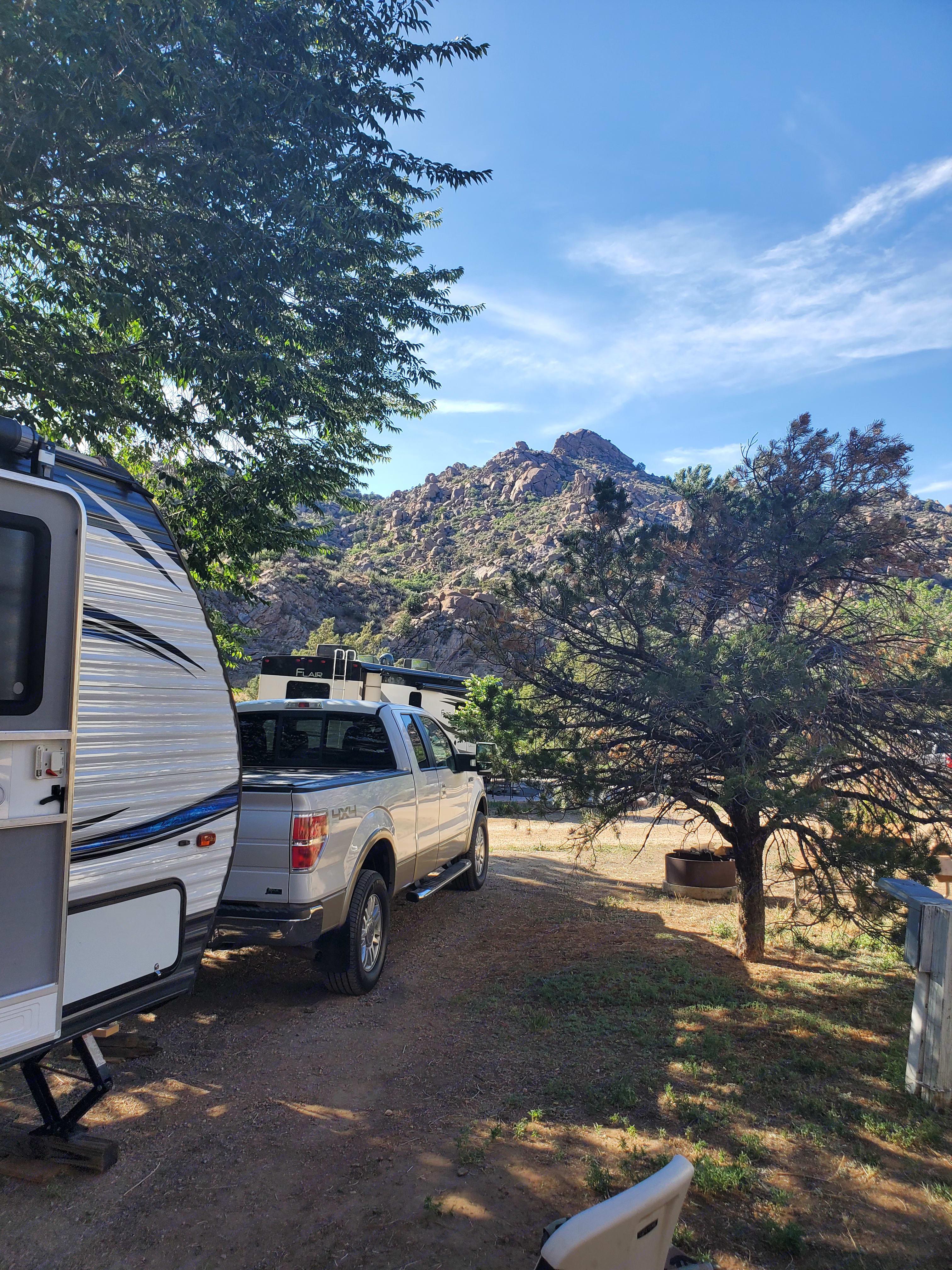 Our view from Cotapaxi KOA #9. Palomino Puma 2018