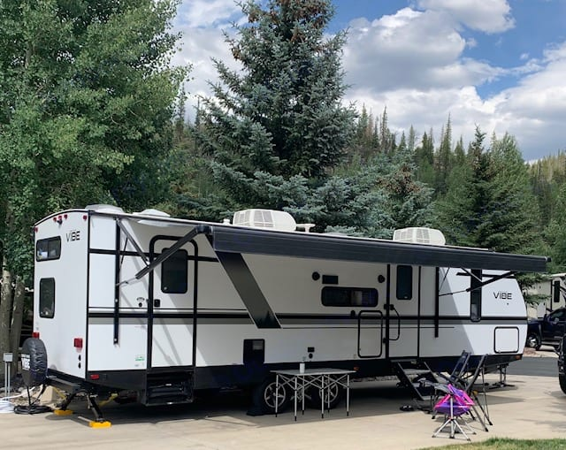 20 foot electric awning. Forest River Vibe 2020