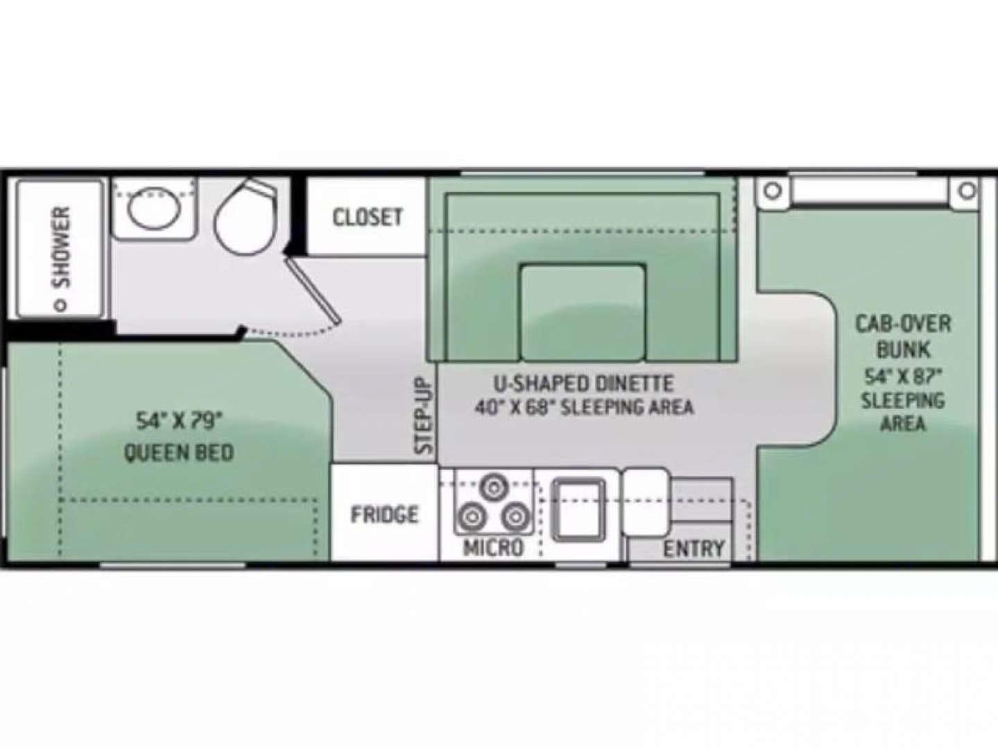 The layout. Thor Motor Coach Freedom Elite 2012