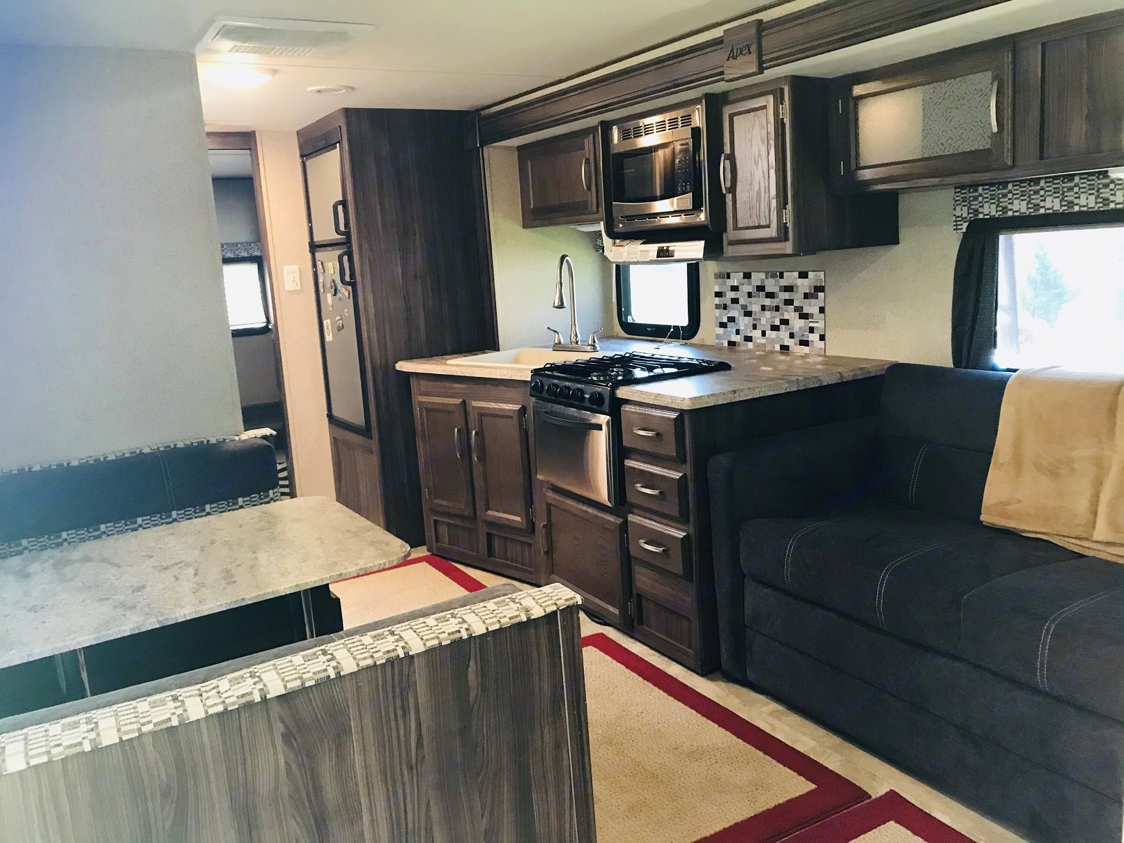 Living Area - from front door. Coachmen Apex 2017