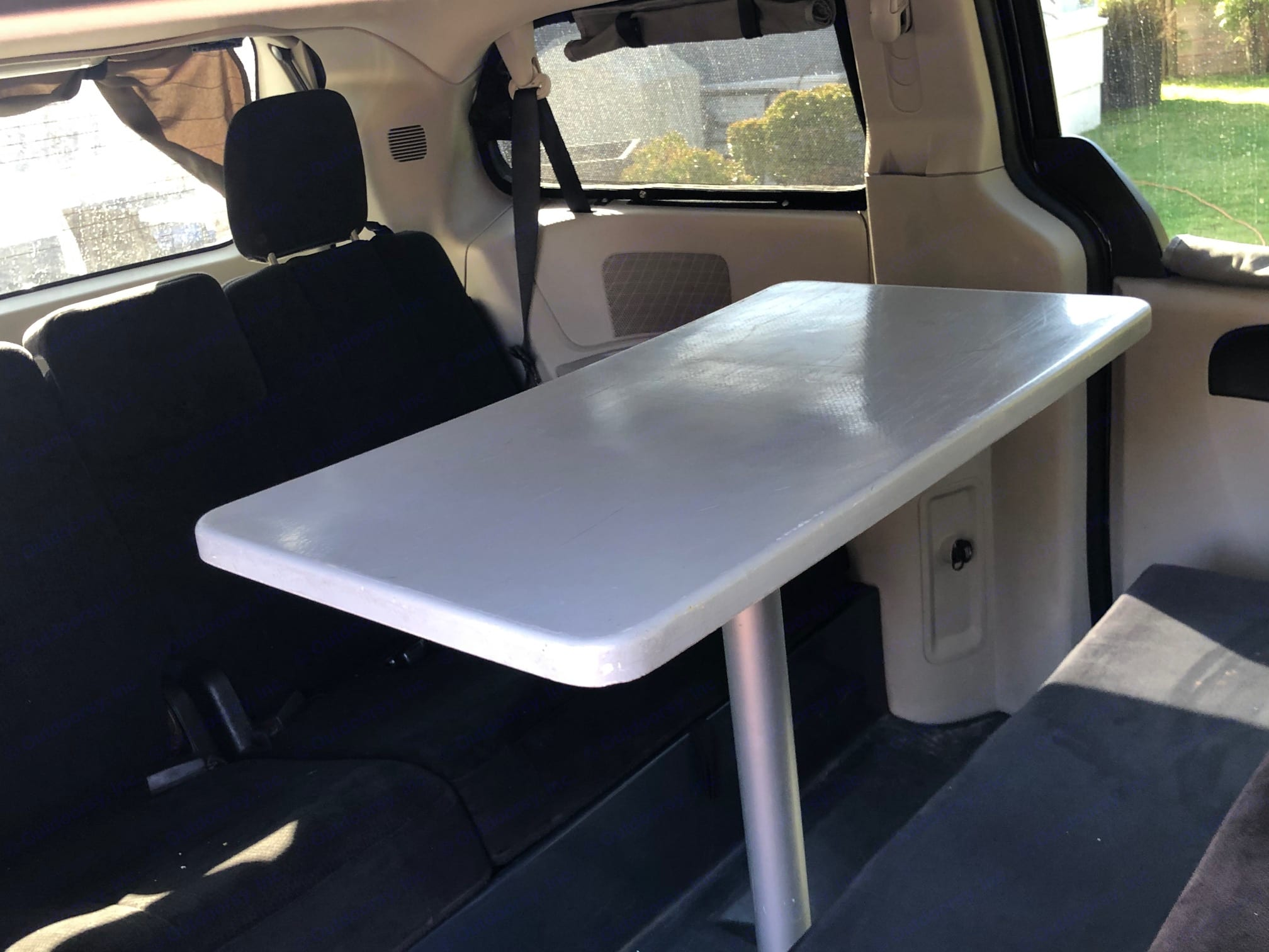 Interior cabin with dining table set up.. Dodge Other 2013